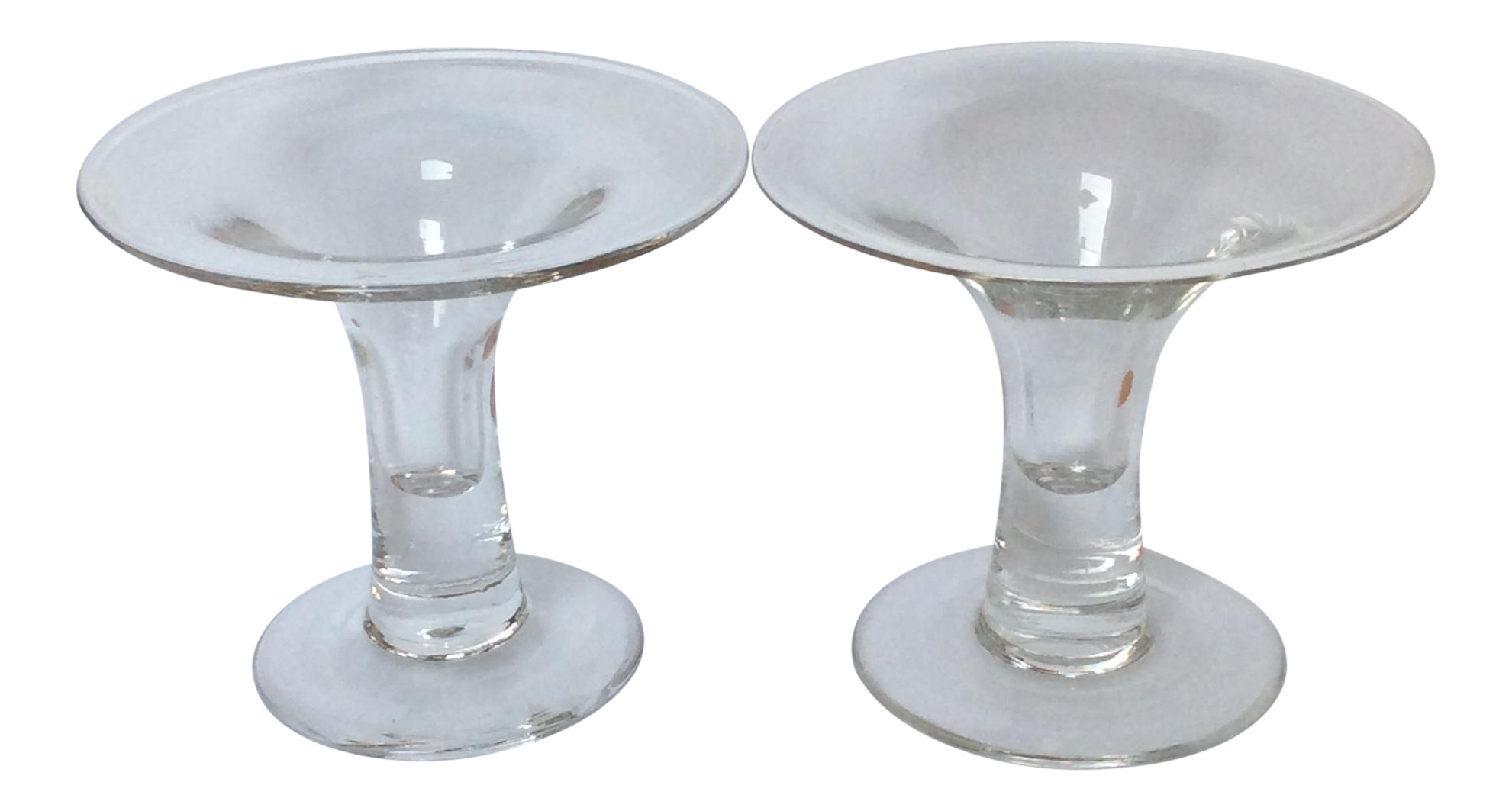 scandinavian glass candle holders a pair chairish With kitchen cabinet trends 2018 combined with scandinavian glass candle holders