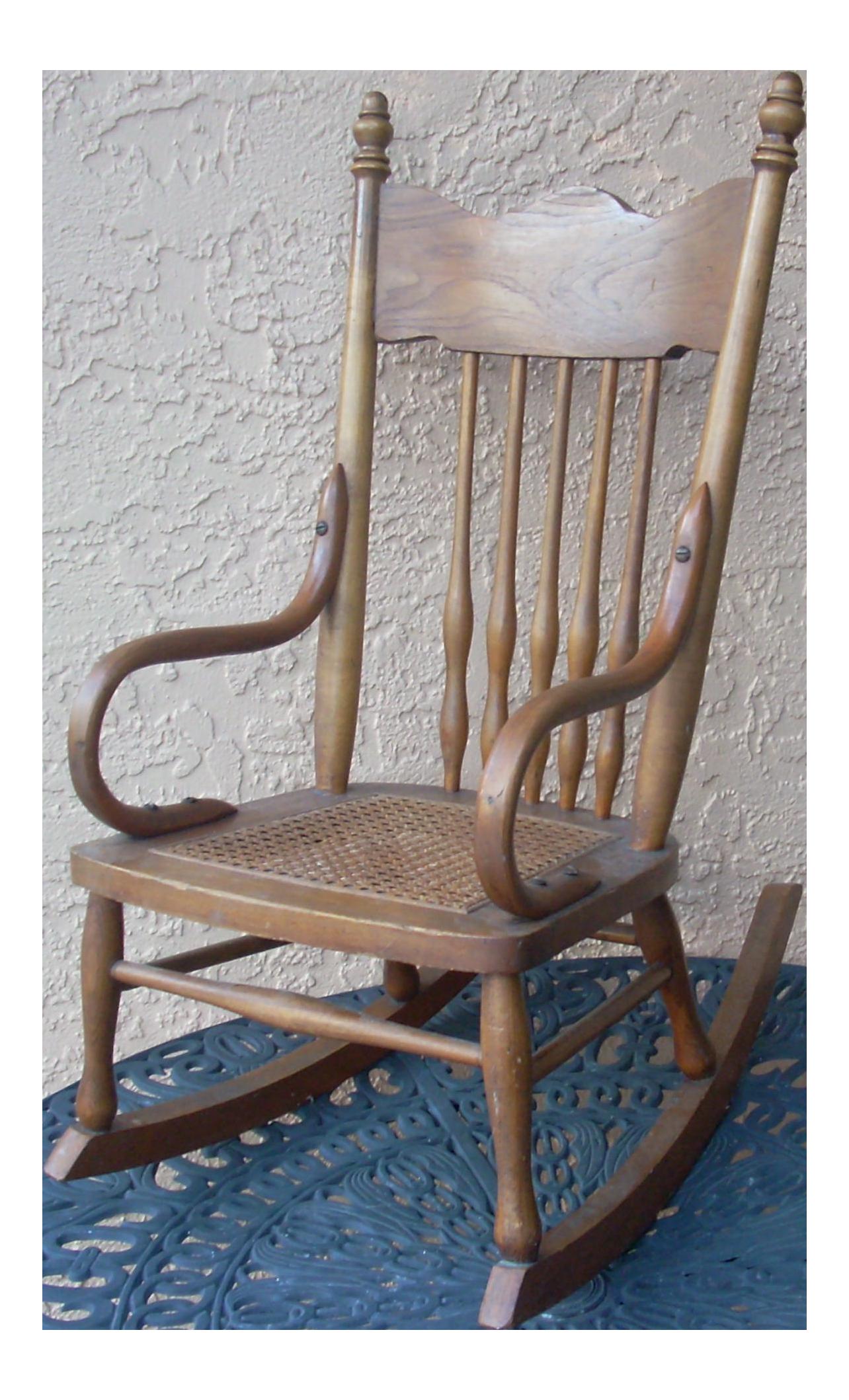 Child S Caned Rocking Chair Chairish