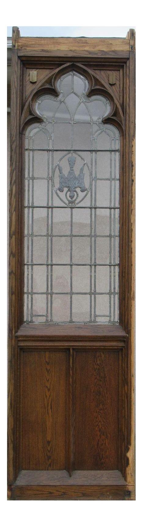 Antique Church Lead Glass Window Door Chairish