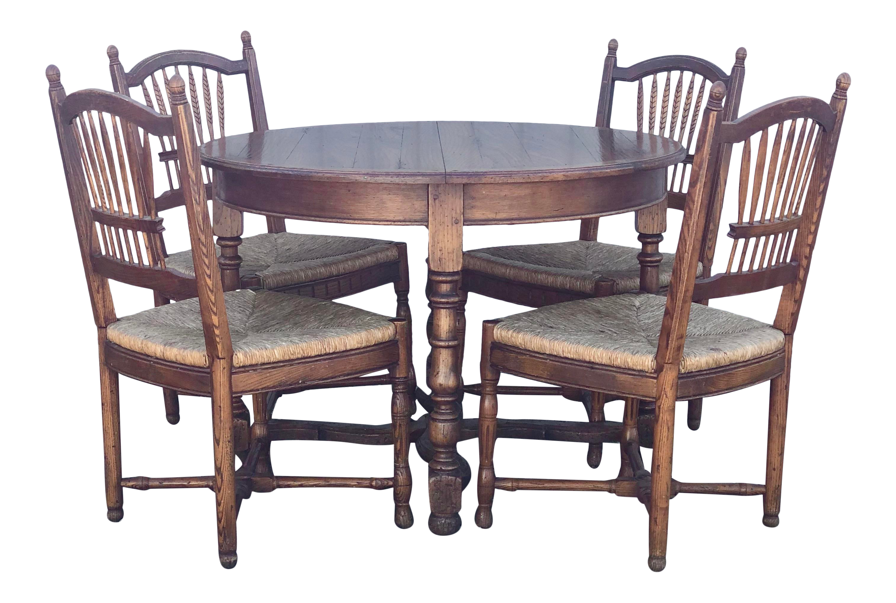Richelieu Art Et Mubles De France Country French Dining Table And Chairs A Set Chairish