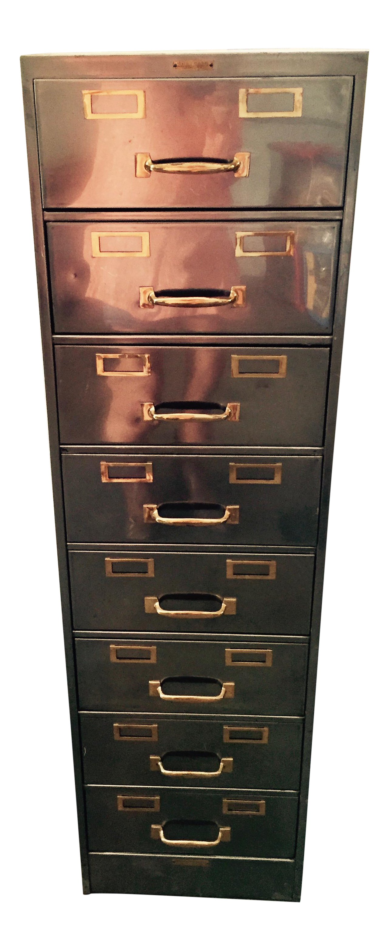 Vintage Polished Modern Metal Steelcase 8 Drawer File Cabinet Chairish