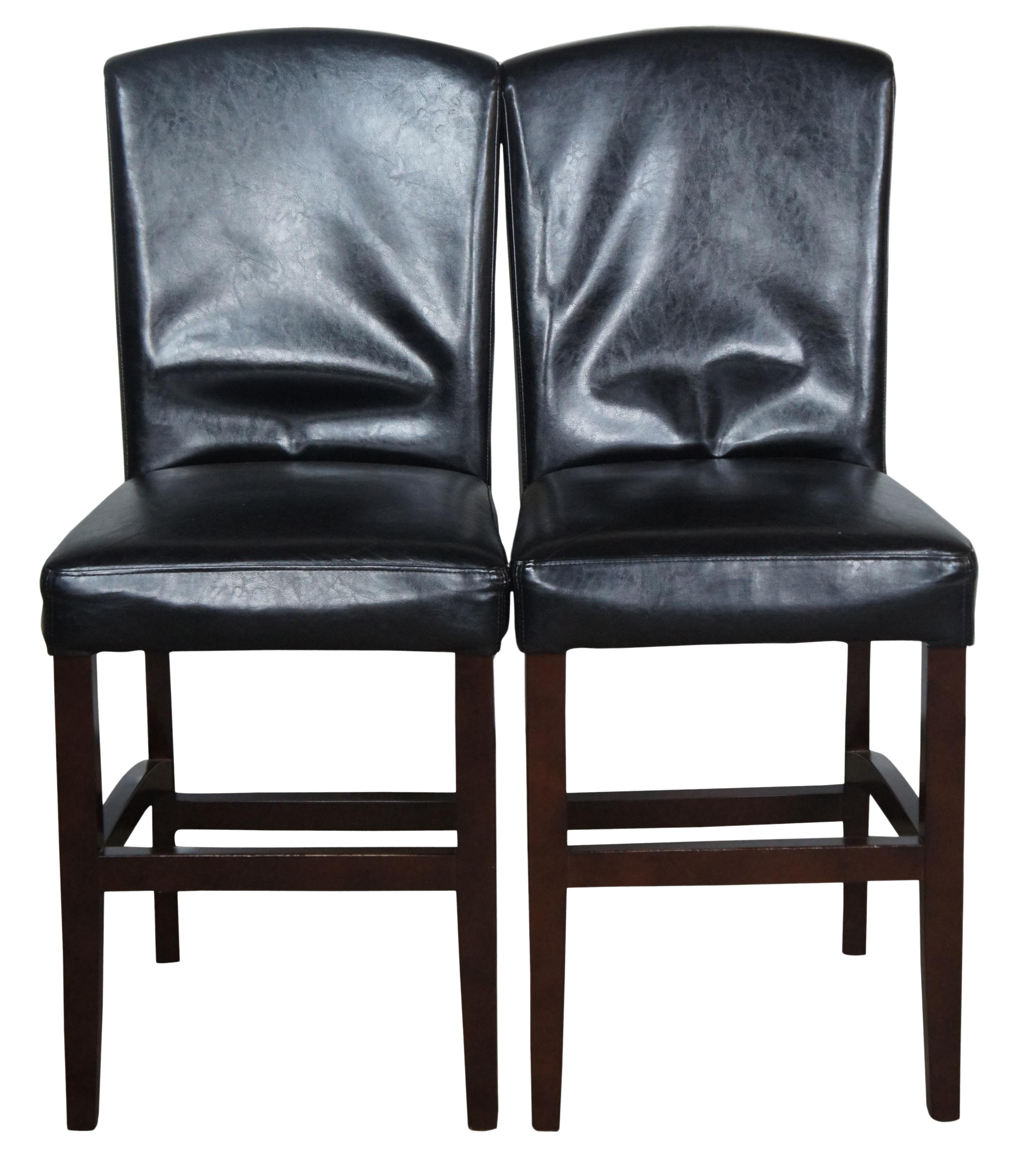 Picture of: Arhaus Capri Faux Leather Counter Height Bar Stools A Pair Chairish