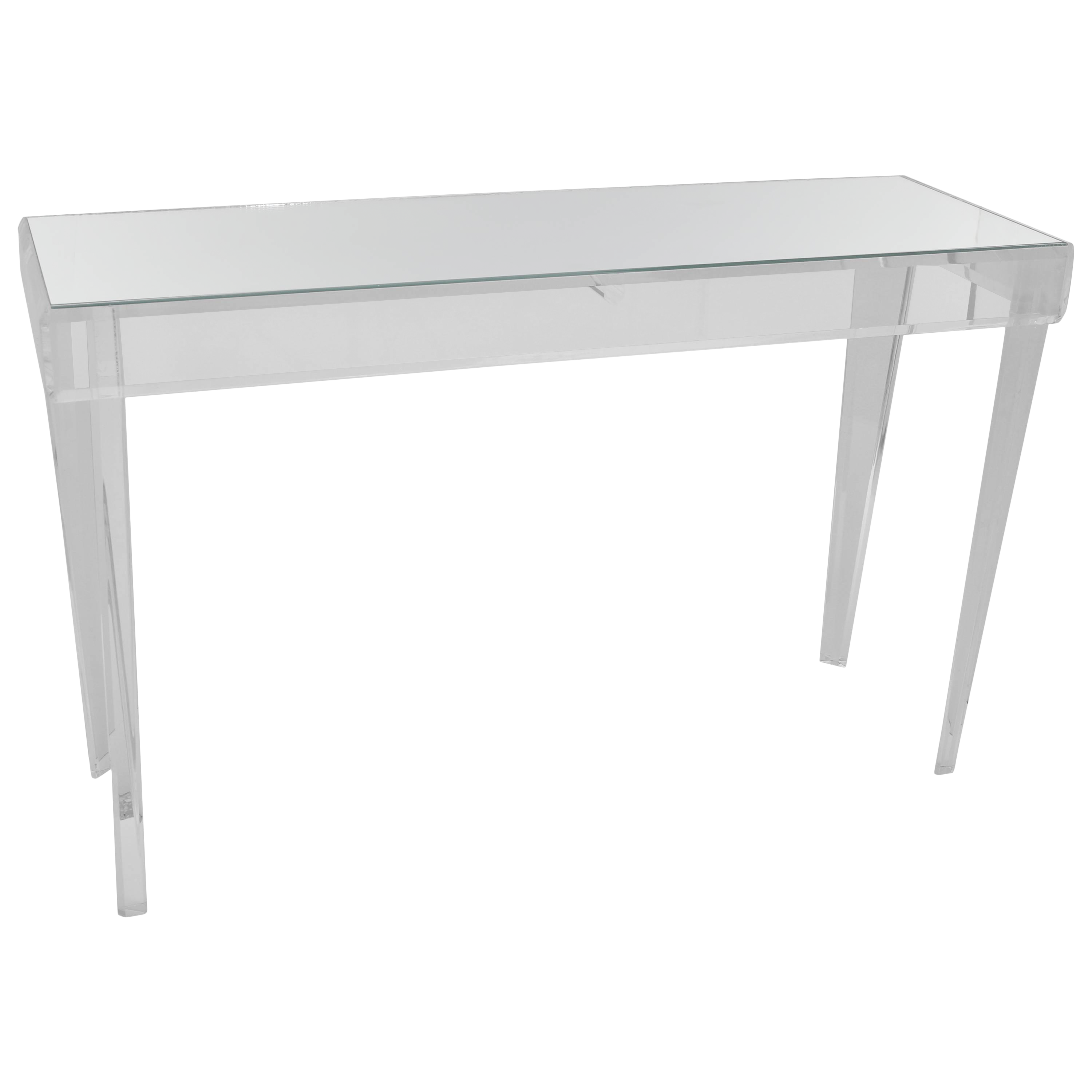 Luxury Lucite U0026 Glass Rectangular Console Table   Bespoke Can Custom Make  Different Sizes | DECASO