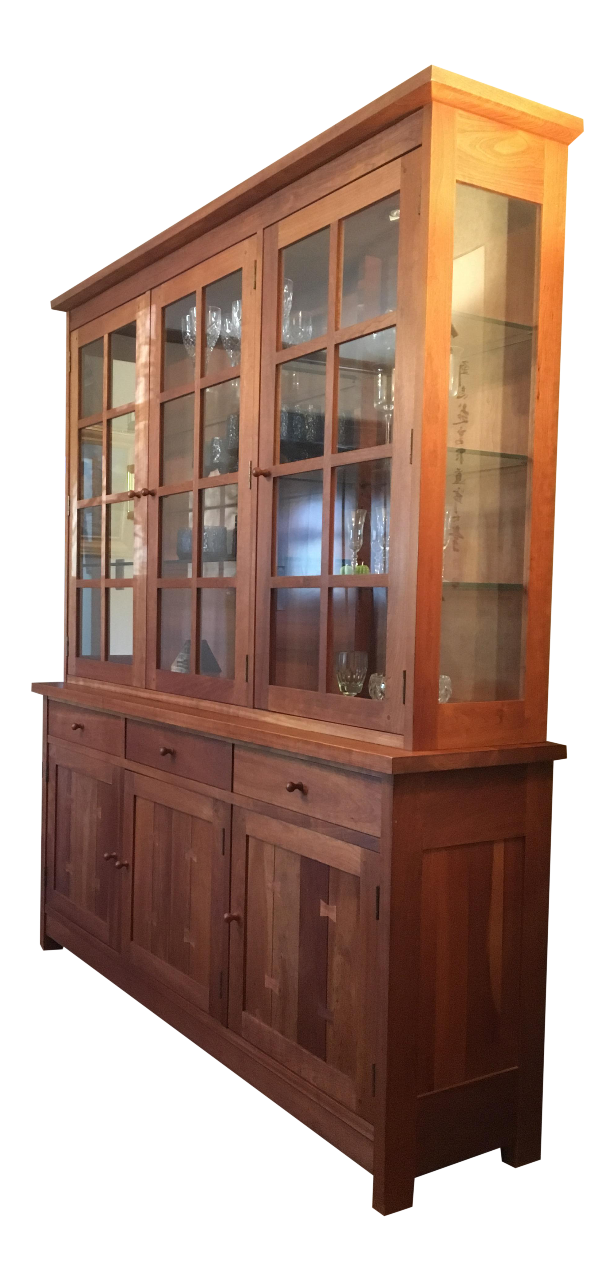 Leopold Stickley Mission Style Cherrywood China Cabinet