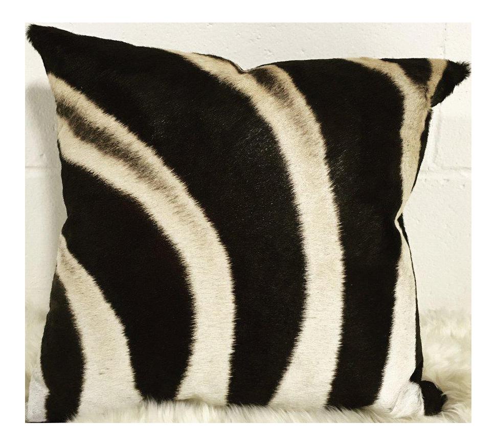 Real Animal Skin Pillows : Zebra Hide Pillow Chairish