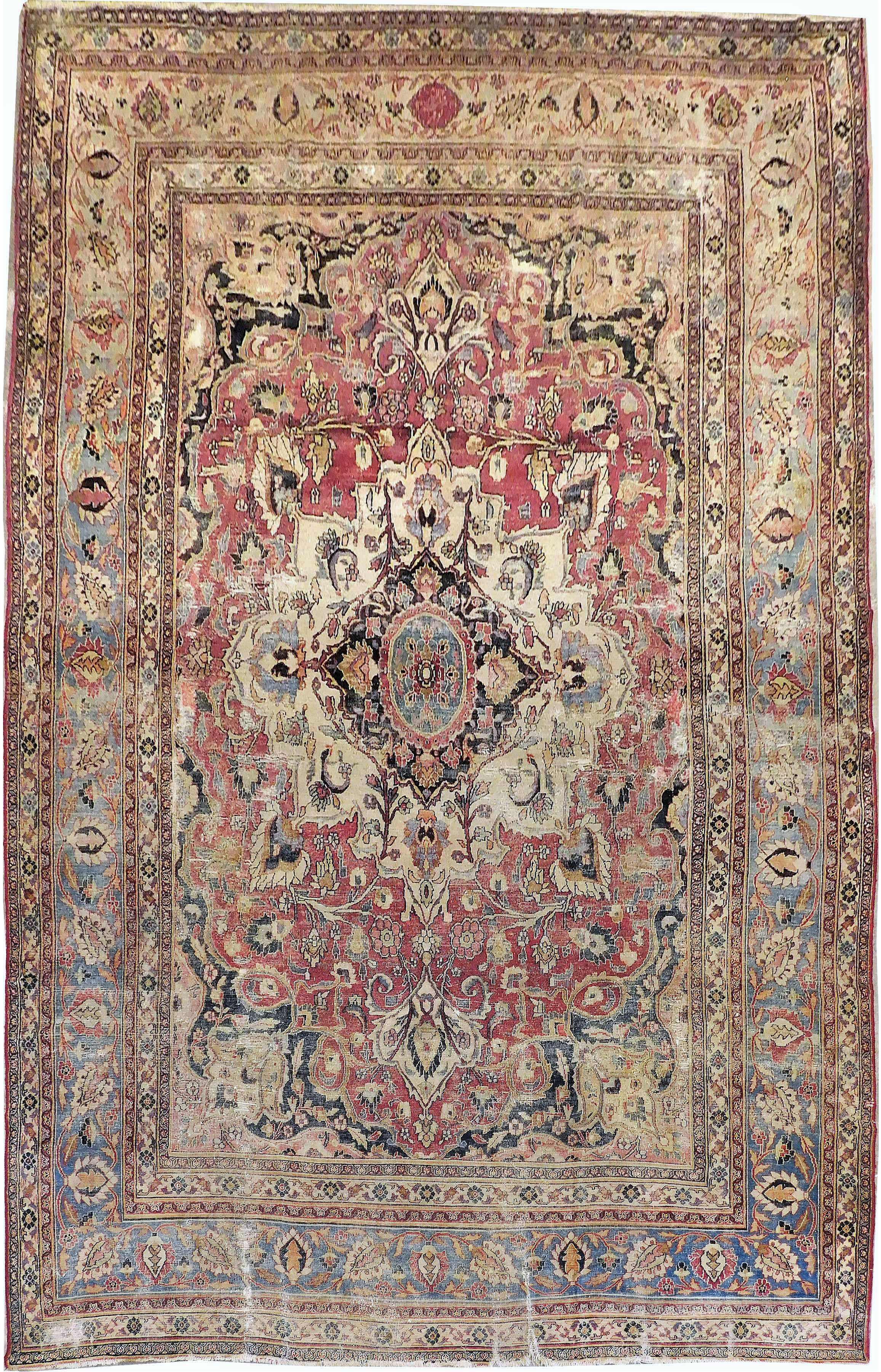 1900s Antique Persian Rug 8 4 X13