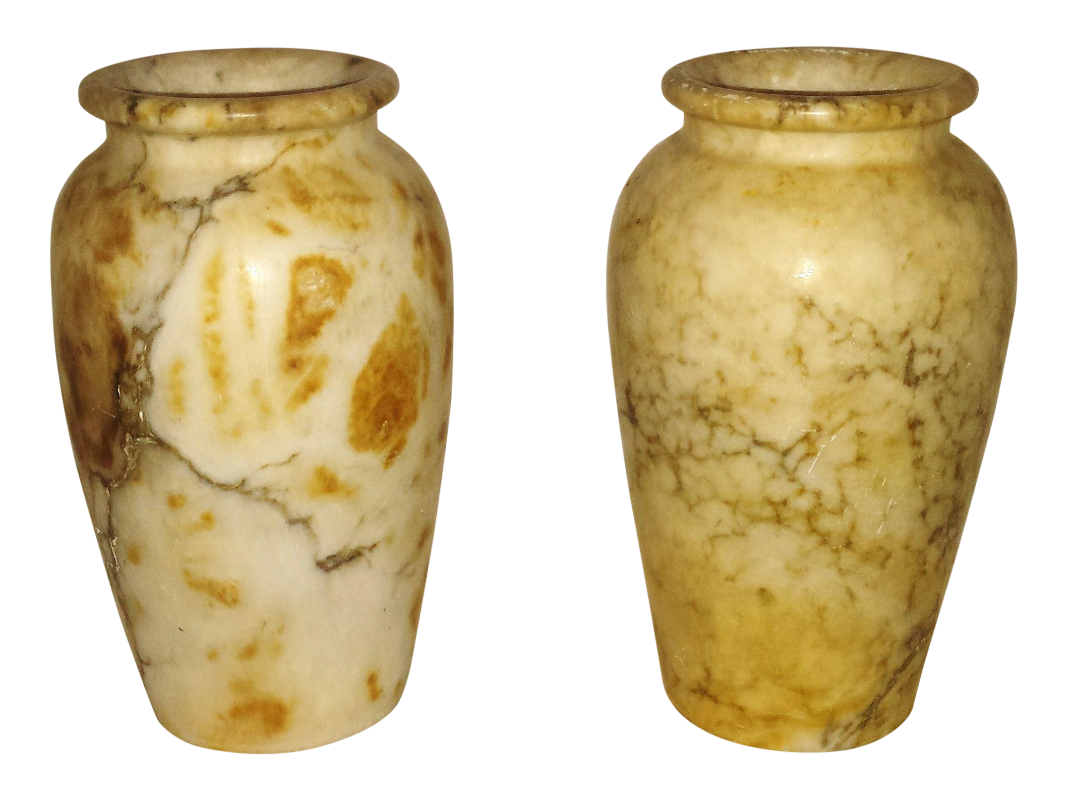 Antique italian alabaster vases pair chairish reviewsmspy