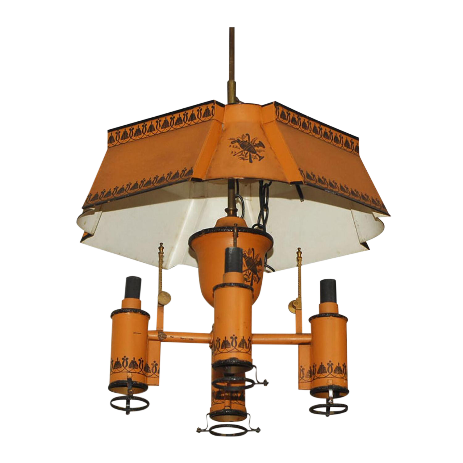 erica chandelier products stone zoran orange coral turquoise open white light courant au interiors