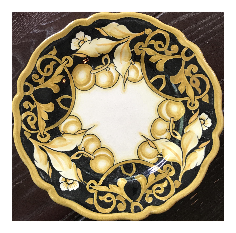 Handpainted Italian Versace Dessert Plates - Set of 6 | Chairish