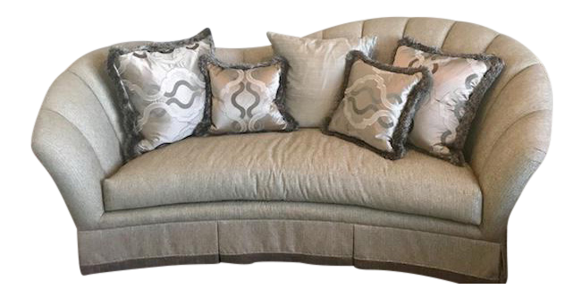 Marge Carson Adele Sofa With Pillows Chairish