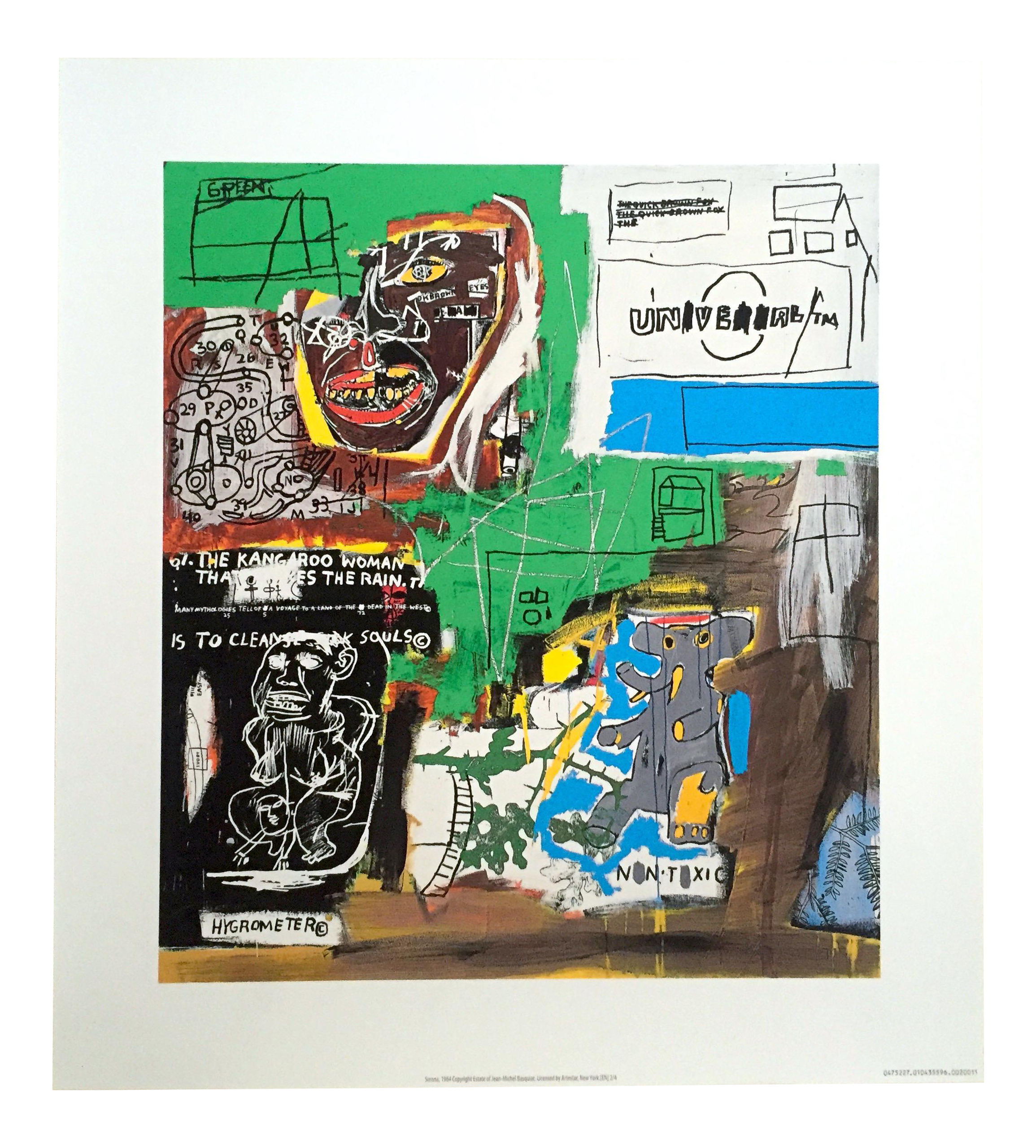 Jean Michel Basquiat Original Pop Art Lithograph Print