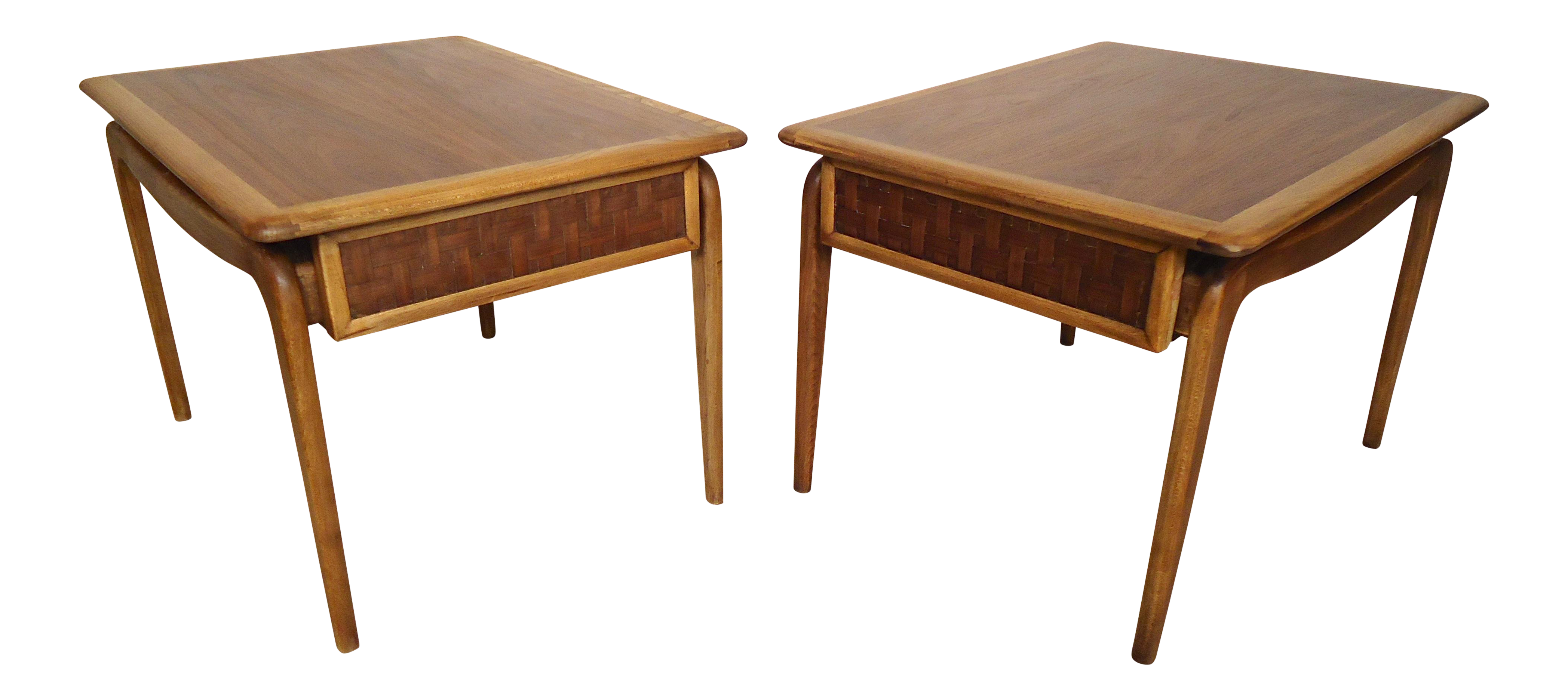 Lane Mid Century End Tables A Pair Chairish