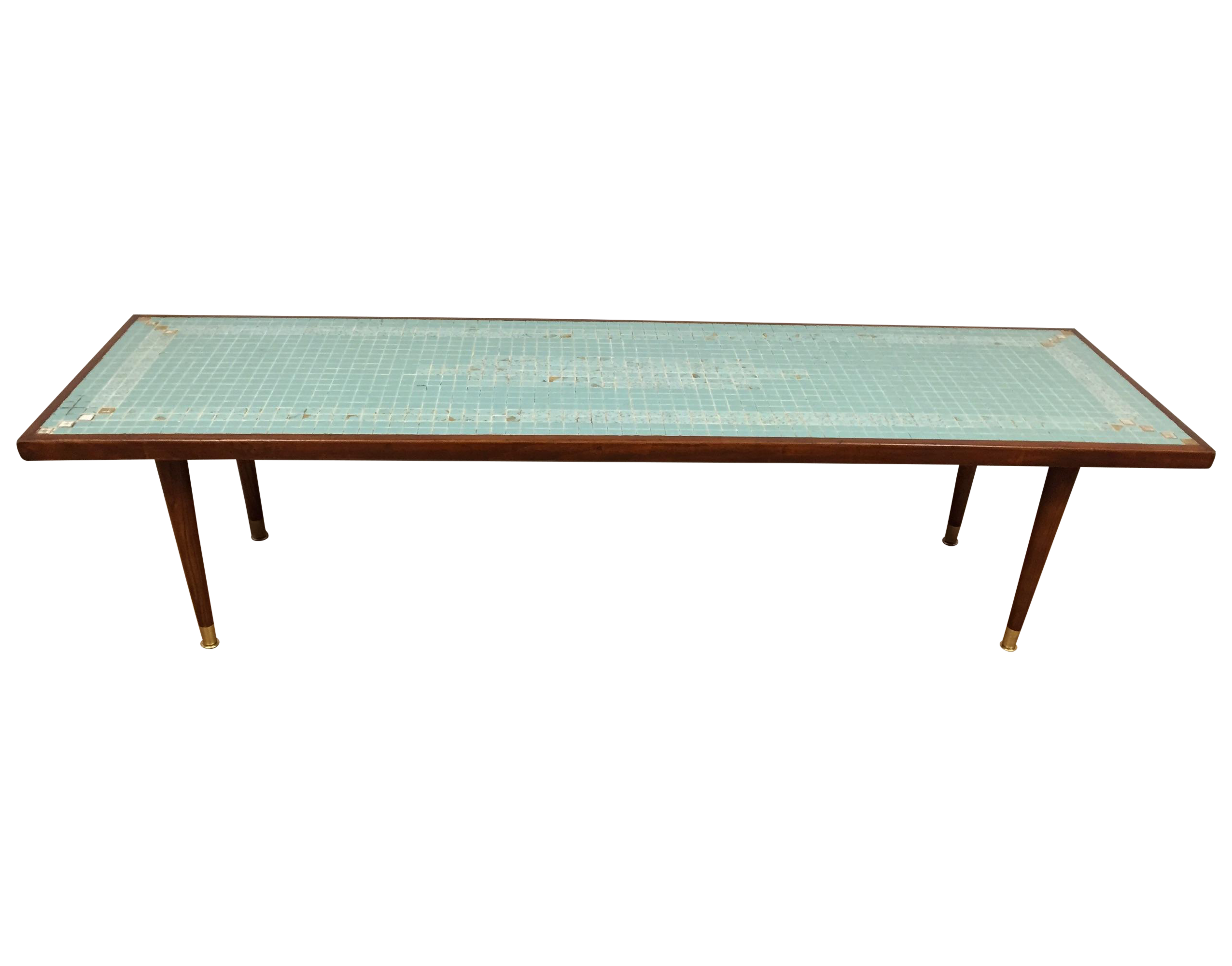 Mid Century Tile Top Coffee Table