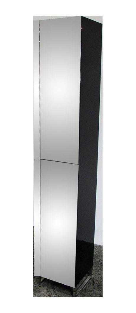 roche bobois glass wood narrow case chairish. Black Bedroom Furniture Sets. Home Design Ideas
