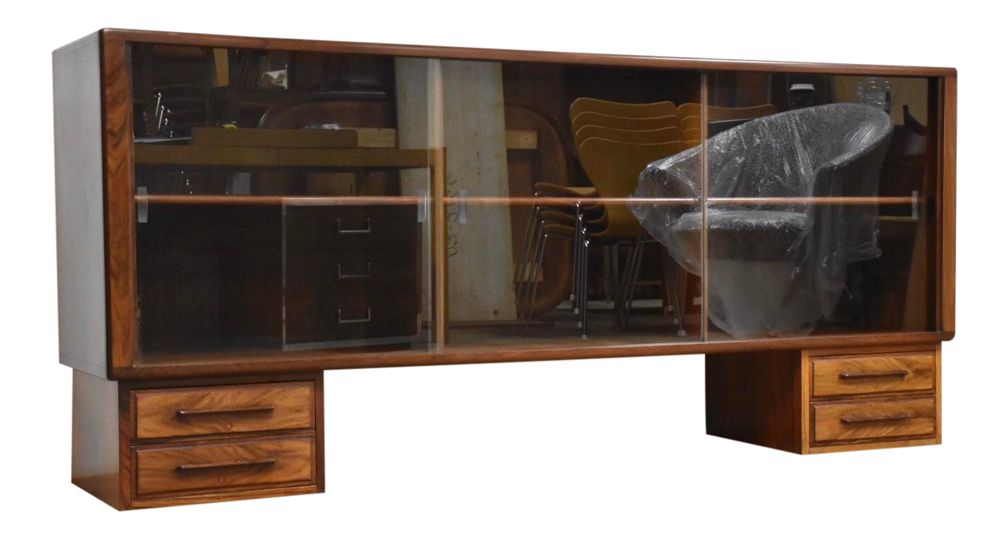 Danish Modern Tv Credenza : Modern mid century danish tv console credenza by tdfurniture from