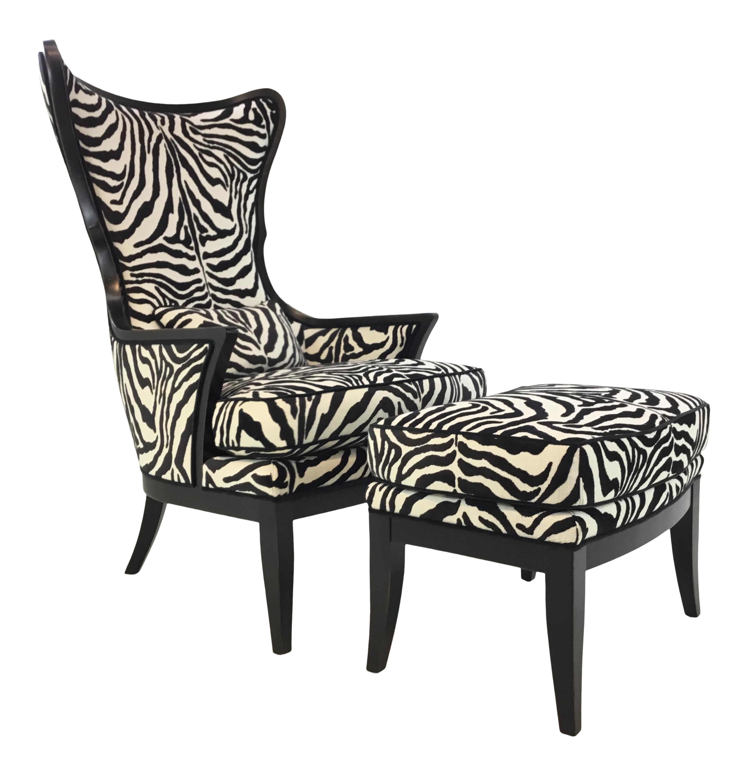 Safavieh En Vogue Dining Matty Black And White Striped: Pictures On Black And White Zebra Chairs