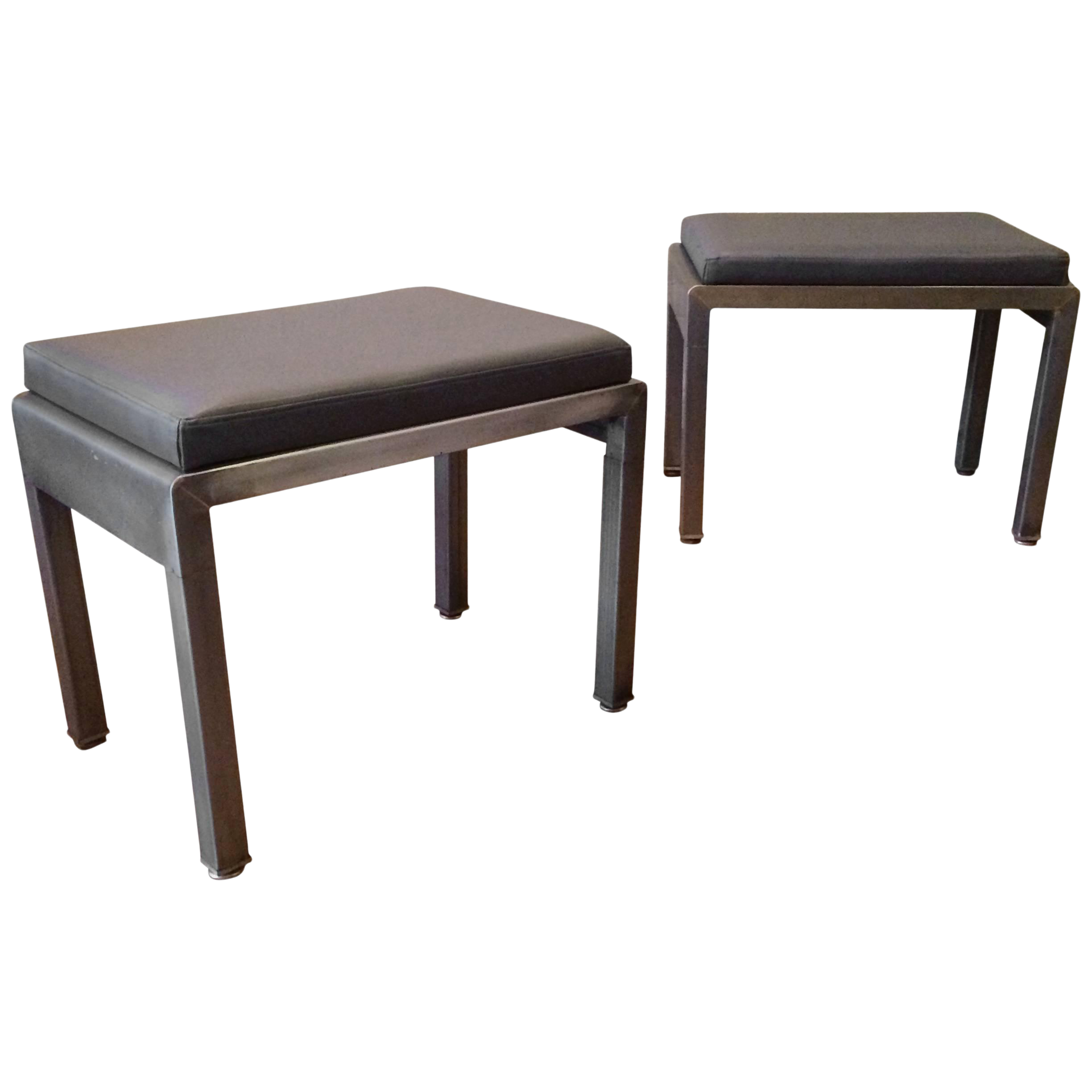 Miraculous 1930S Vintage Norman Bel Geddes For Simmons Art Deco Ottomans A Pair Caraccident5 Cool Chair Designs And Ideas Caraccident5Info