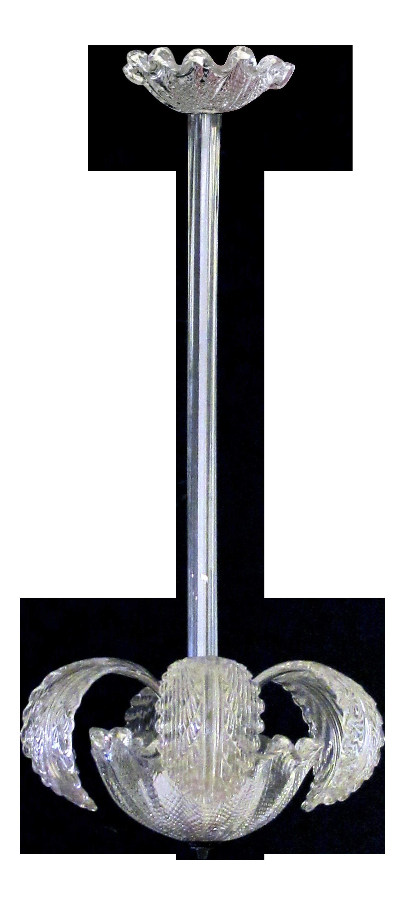 A Shimmering Murano 1950's Foliate Pendant Light