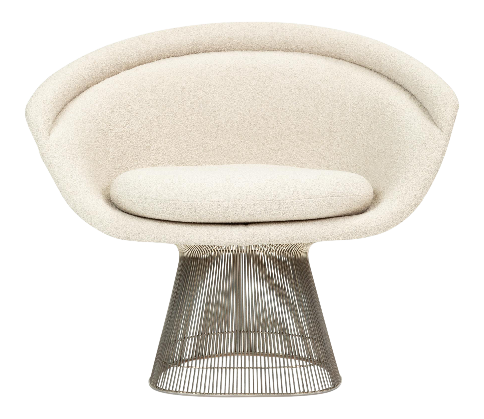 Platner Collection For Knoll Lounge Chair In White Boucle Chairish