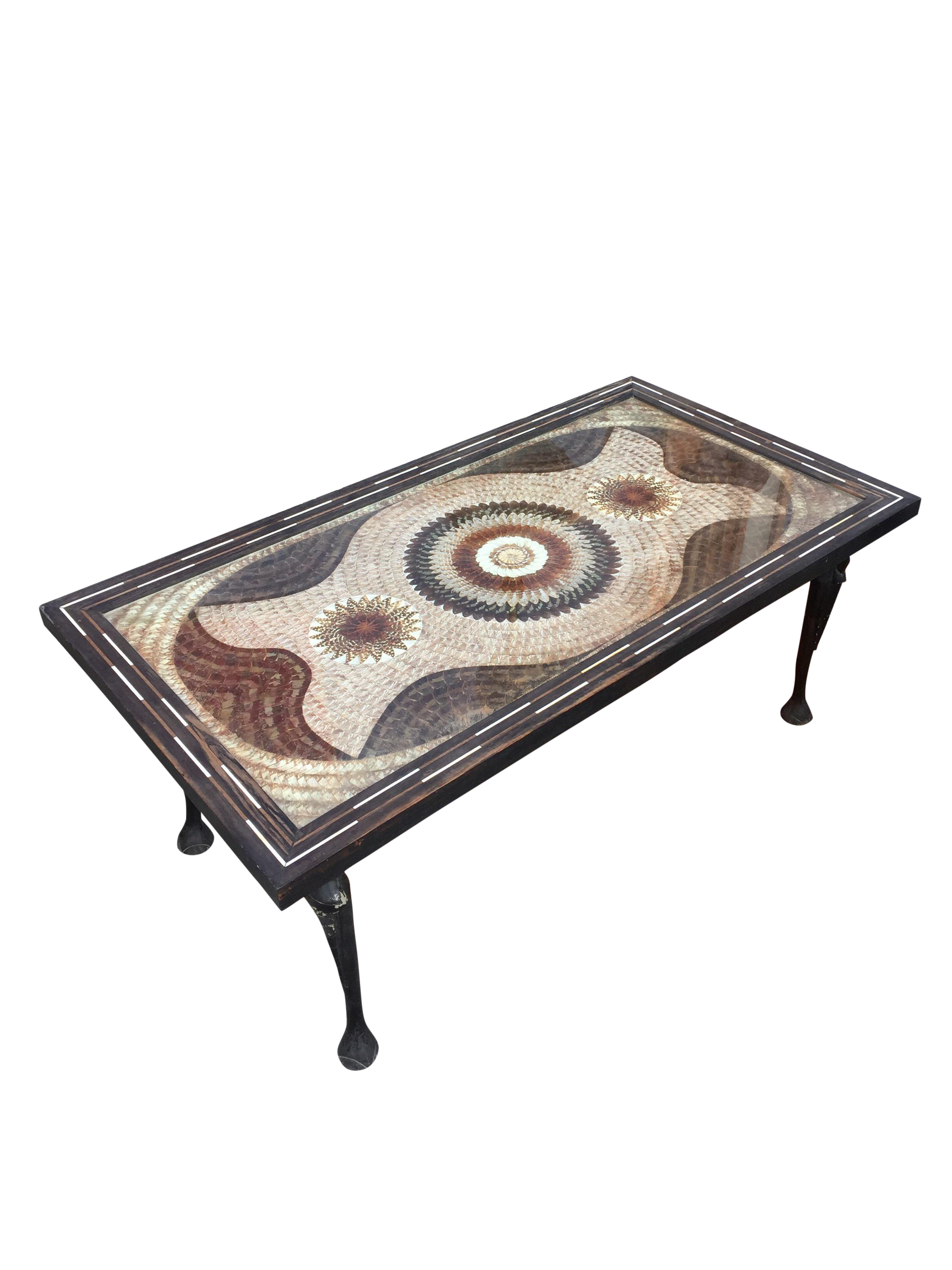 Unique Mosaic Butterfly Coffee Table With Elephant Legs