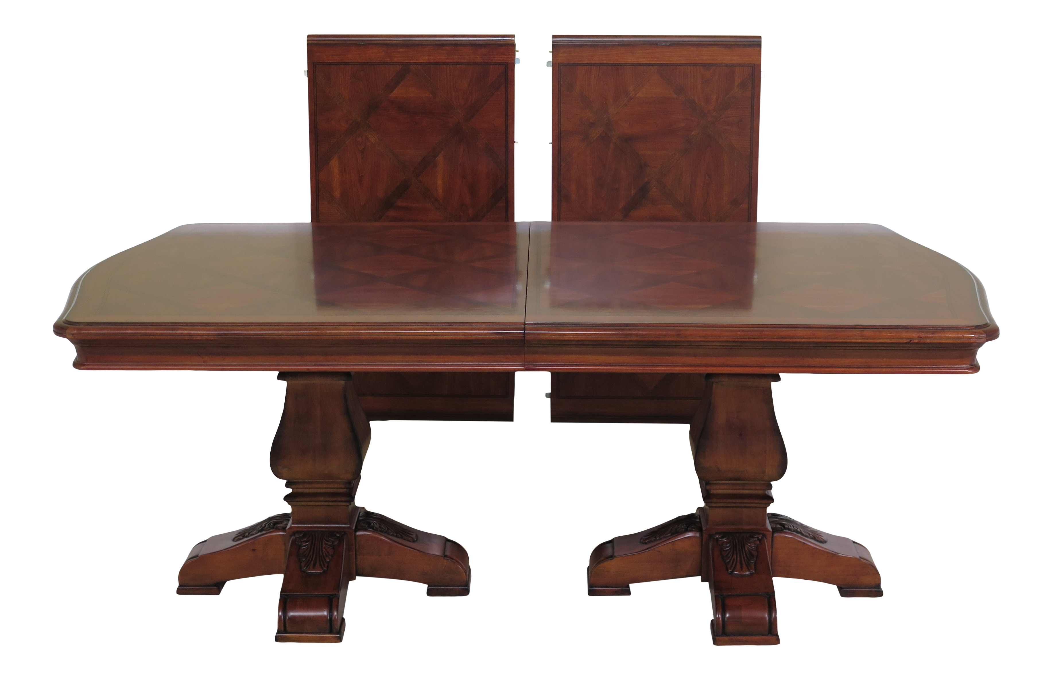 Traditional Ethan Allen Tuscany Collection Walnut Finish Dining Table Chairish