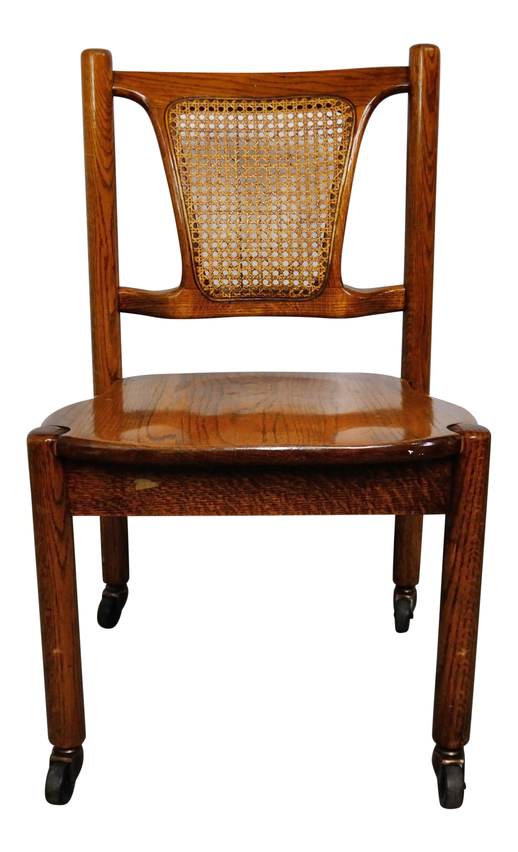 Antique French Cane Back Walnut Desk Chair Chairish