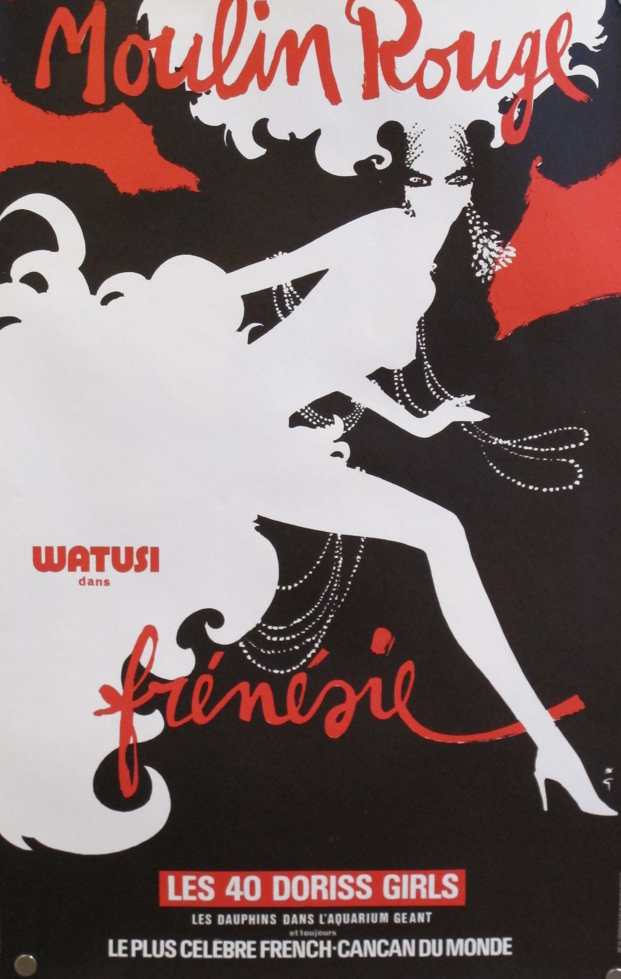 Original Rene Gruau French Moulin Rouge Poster Chairish