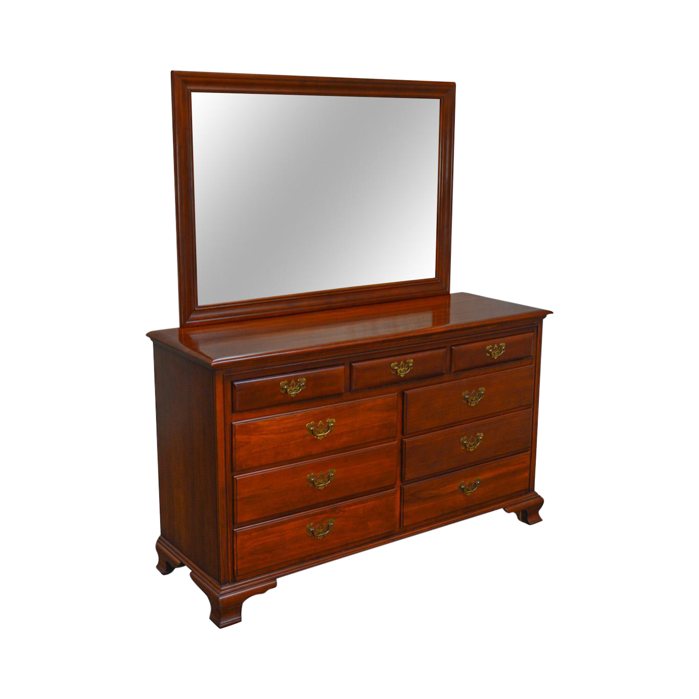 Link Taylor Vintage Solid Cherry Treasure House Dresser W/ Mirror ...