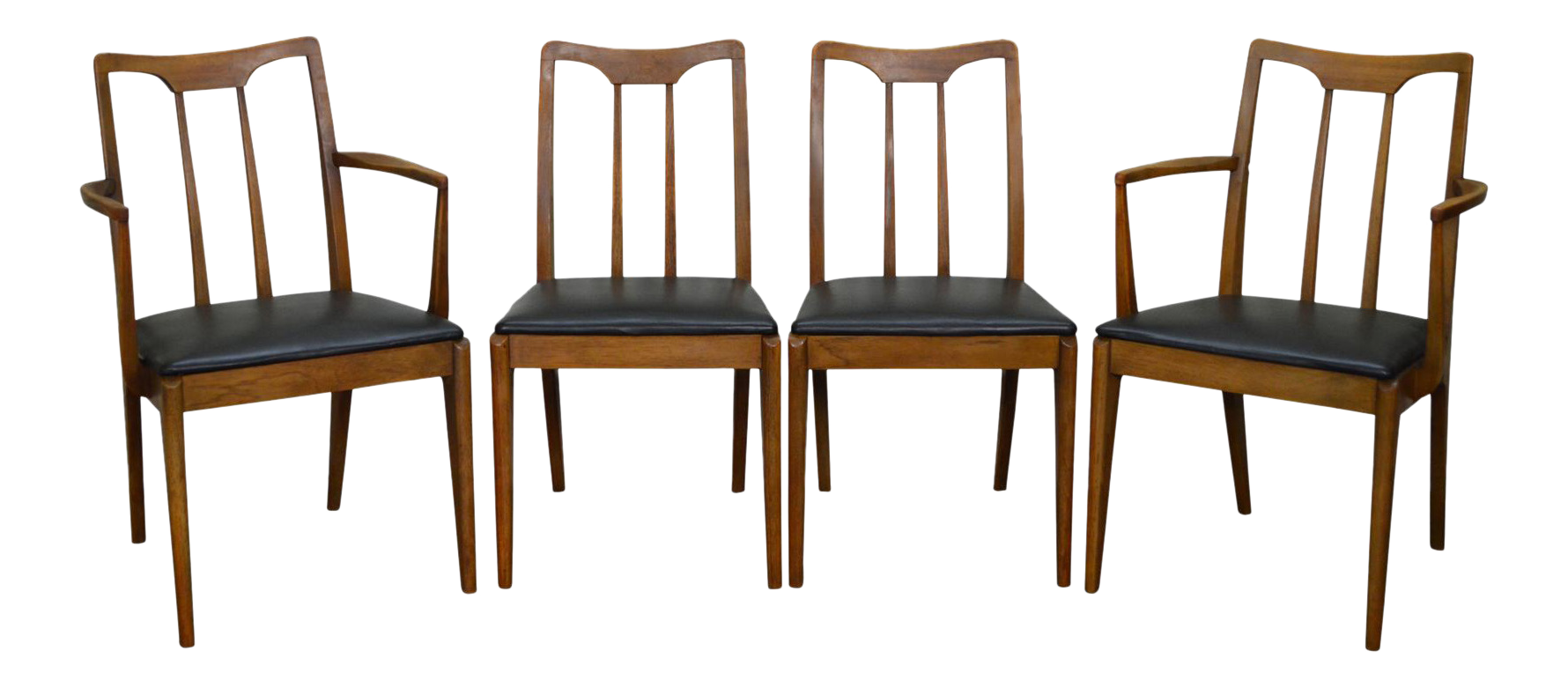 Fantastic Drexel Projection Mid Century Modern Set Of 4 Walnut Dining Chairs Dailytribune Chair Design For Home Dailytribuneorg