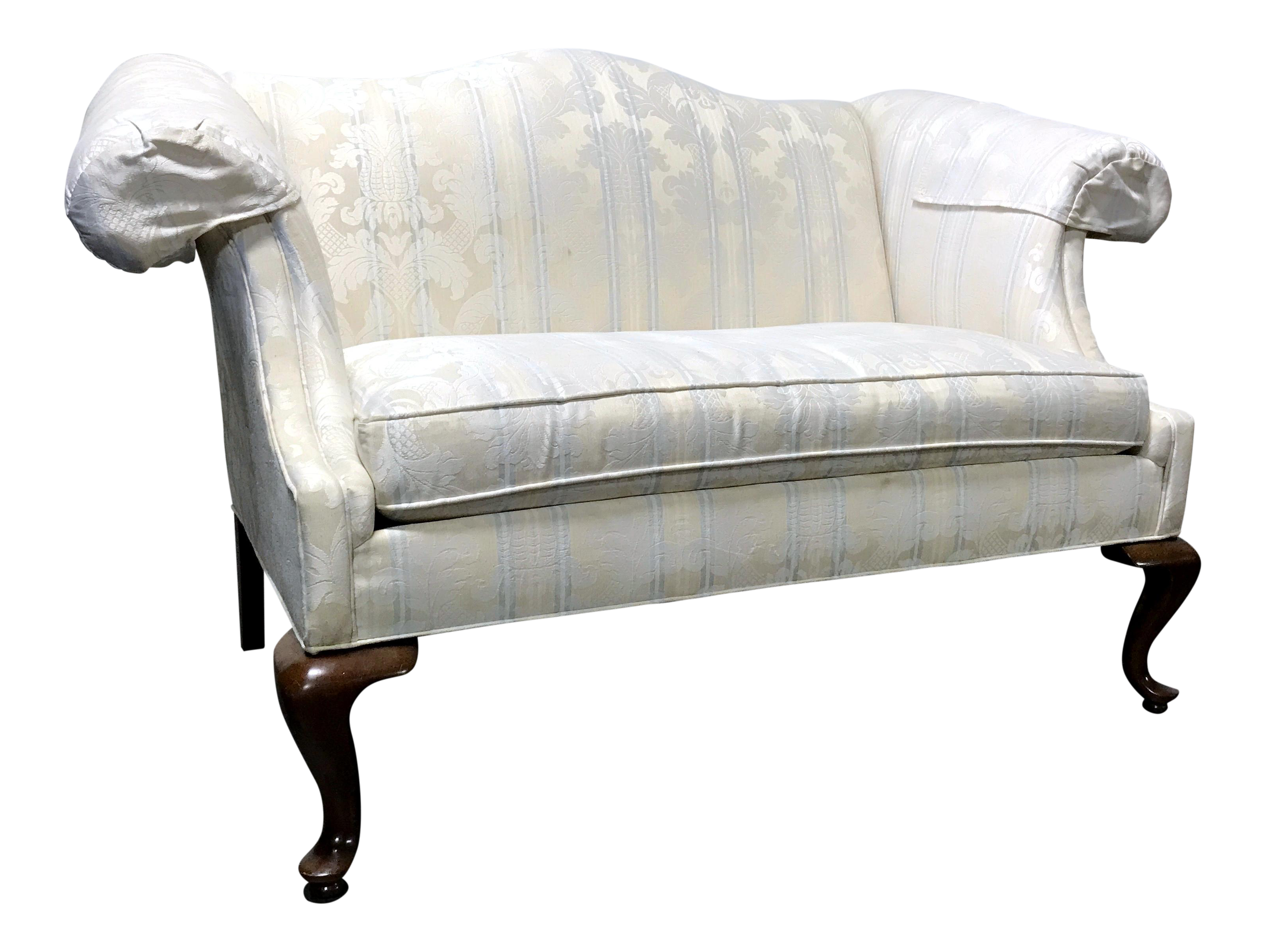 Drexel Traditional Classics Queen Anne Camel Back Loveseat Settee Chairish