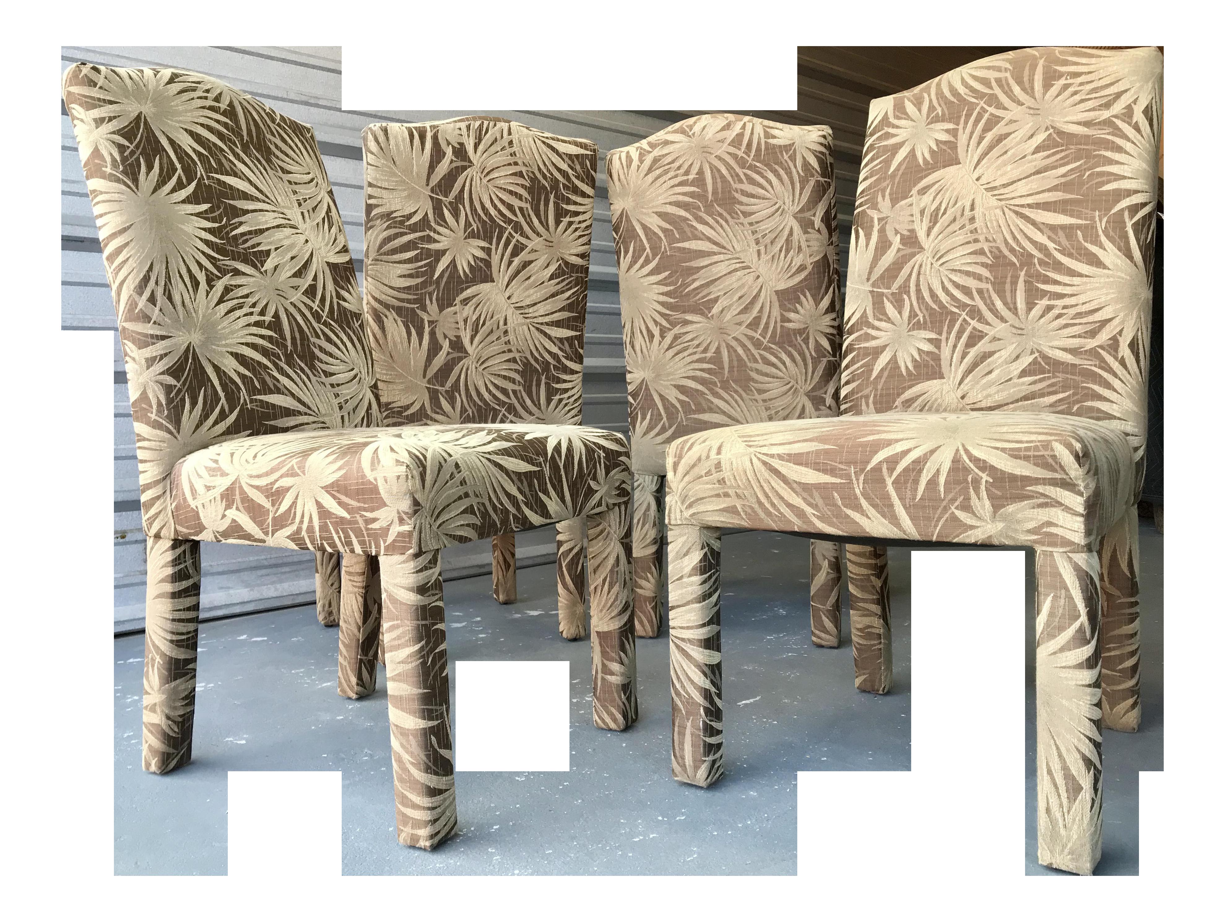Vintage Palm Beach Parson Chairs Set Of 4