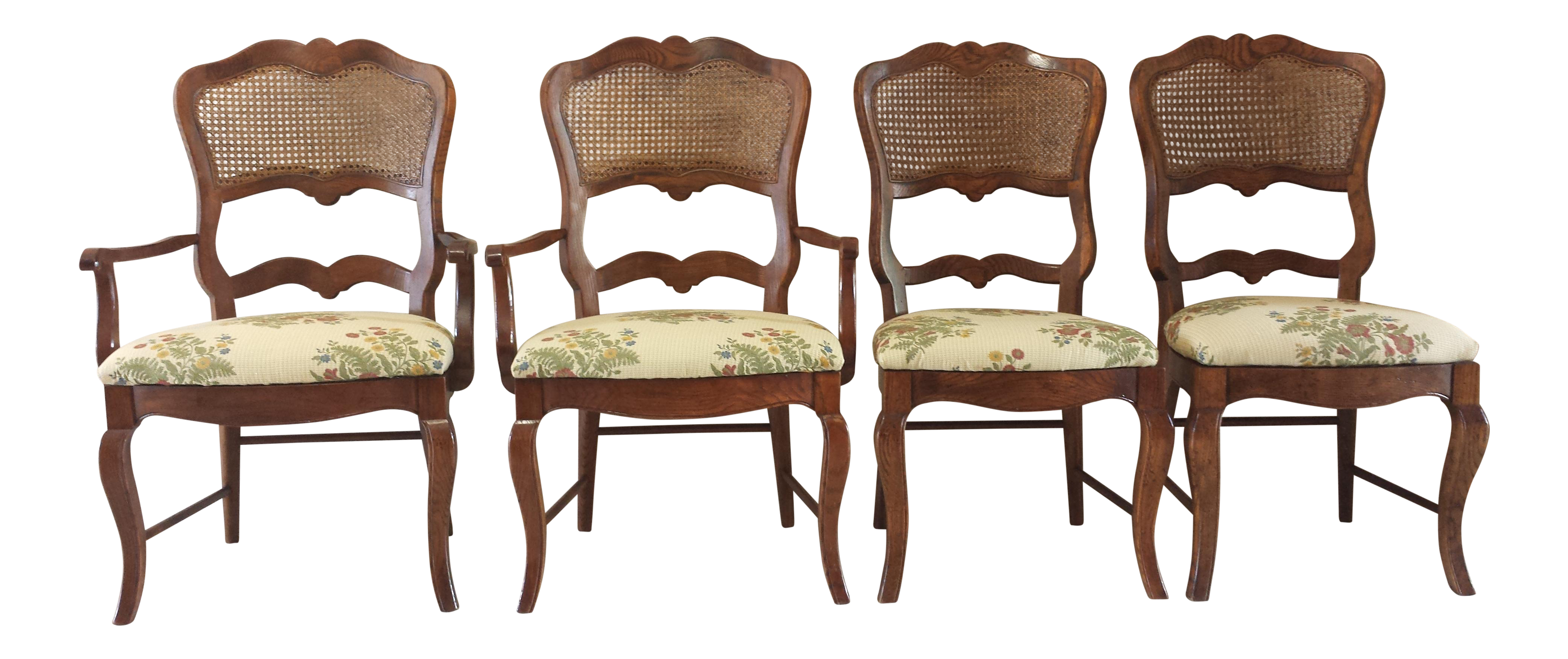 Century french country cane back dining chairs set of 4 chairish