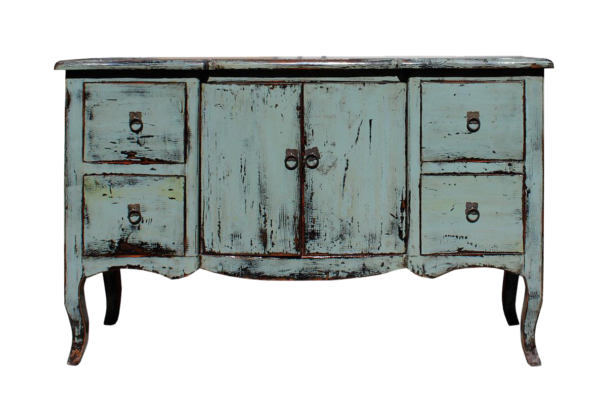 Credenza Console : Distressed gray blue credenza console side table cabinet chairish
