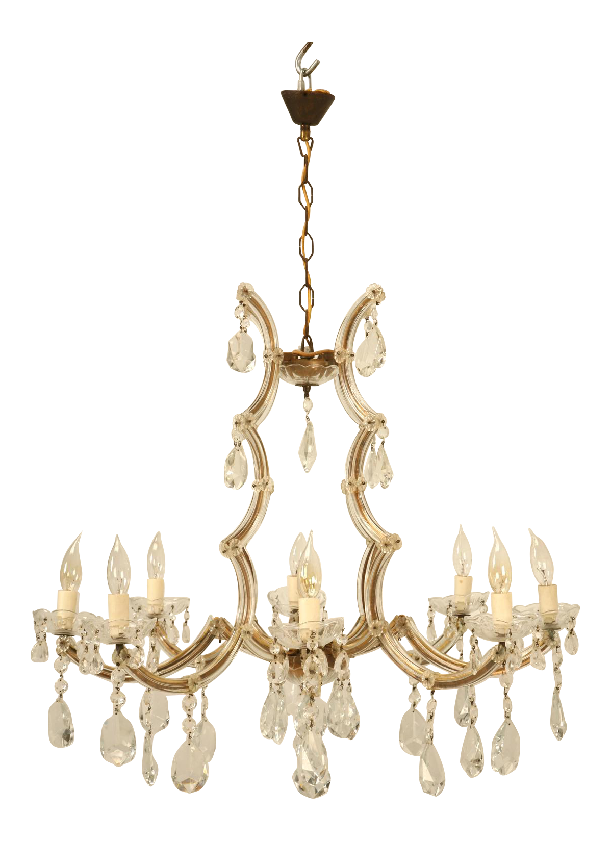 High End Spanish Chandelier in a Baroque Style circa 1930s