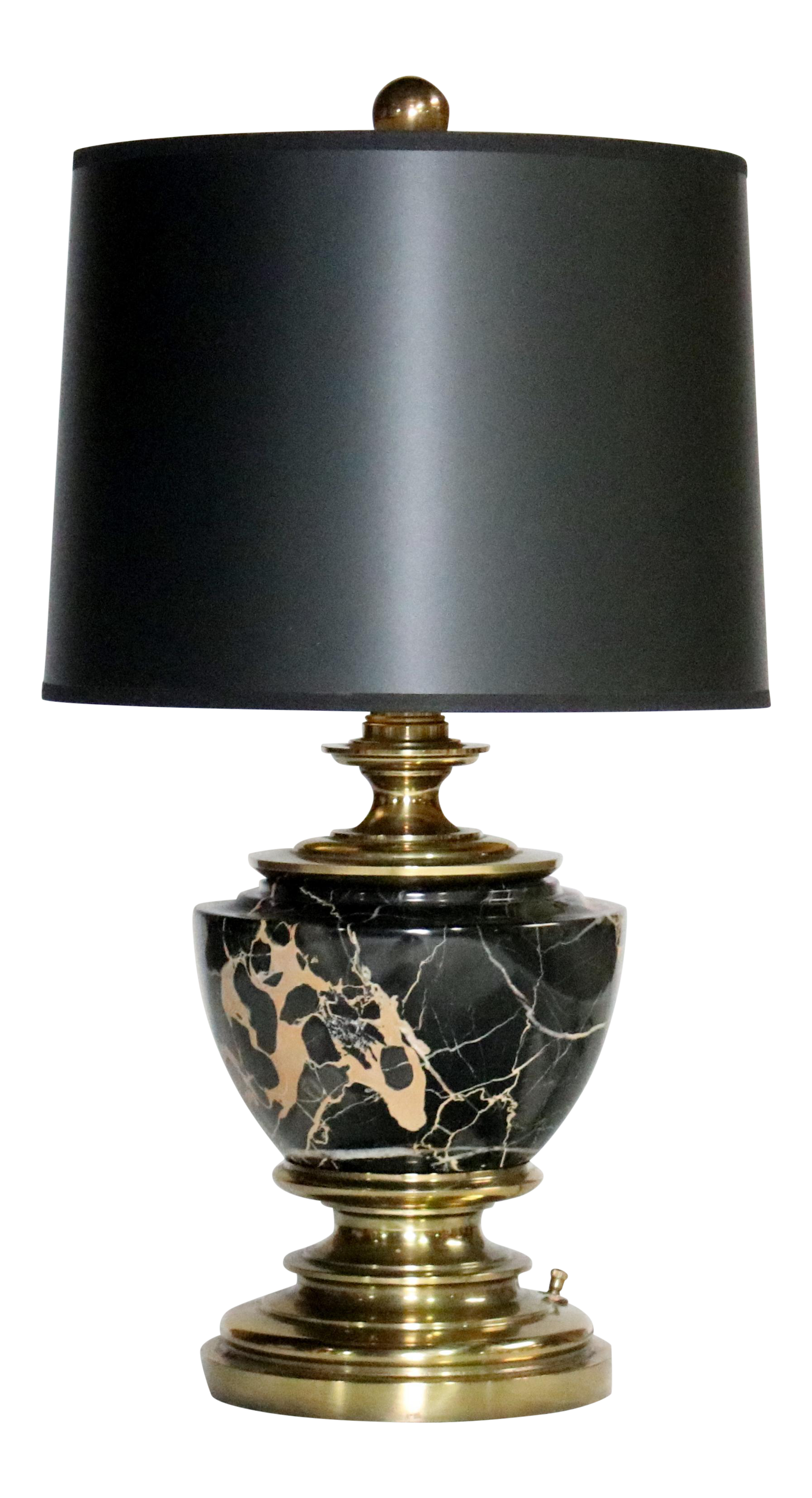 Superior Stiffel Marble And Brass Table Lamp Decaso