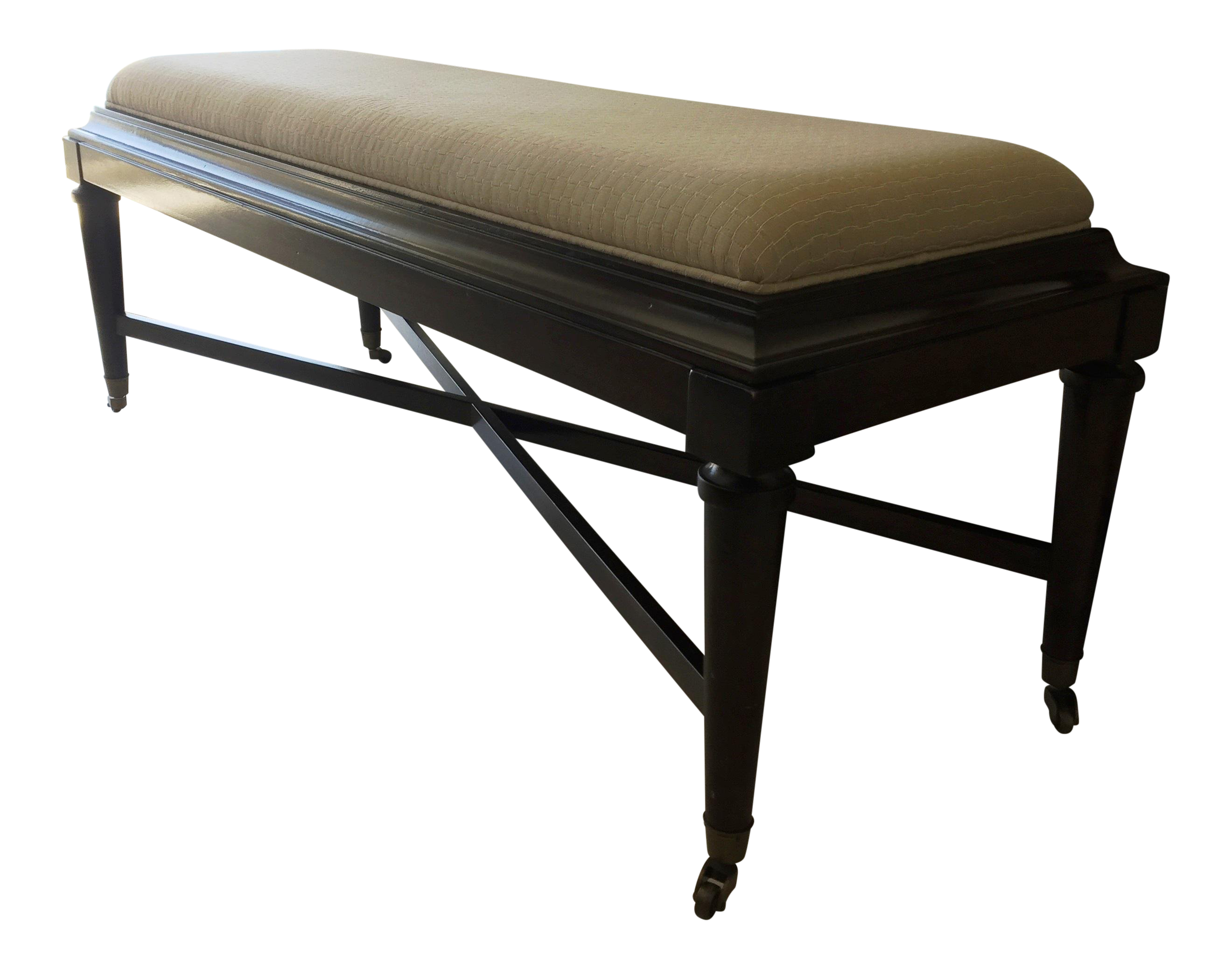 Stanley furniture avalon heights nash bed end bench with casters chairish
