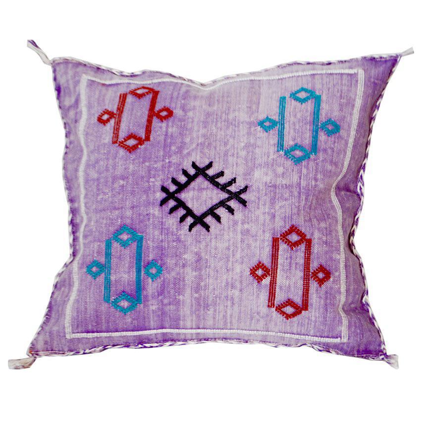 Moroccan Berber Sabra Purple Throw Pillow Chairish