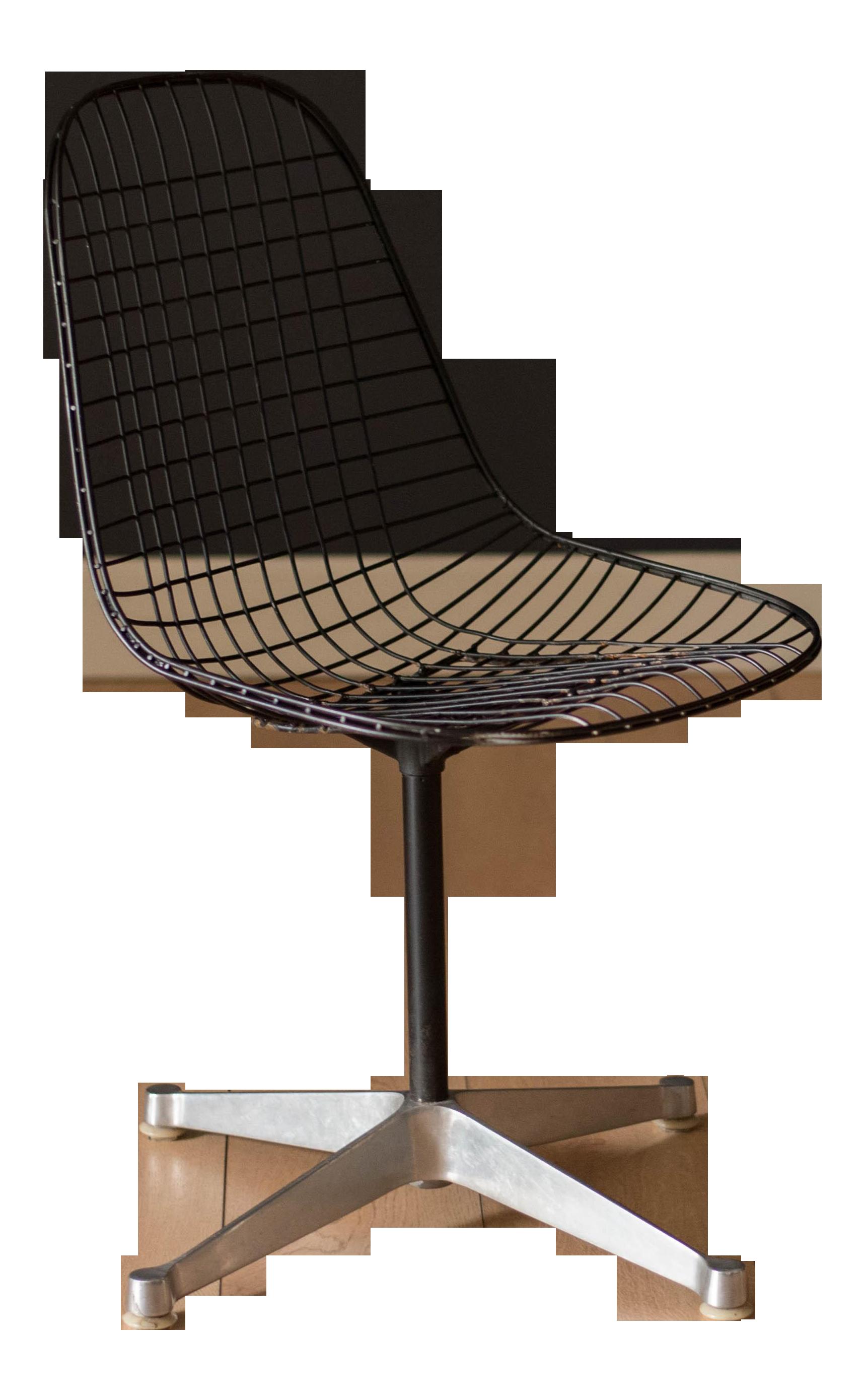 Outstanding Vintage Mid Century Modern Eames For Herman Miller Swivel Wire Chair Evergreenethics Interior Chair Design Evergreenethicsorg