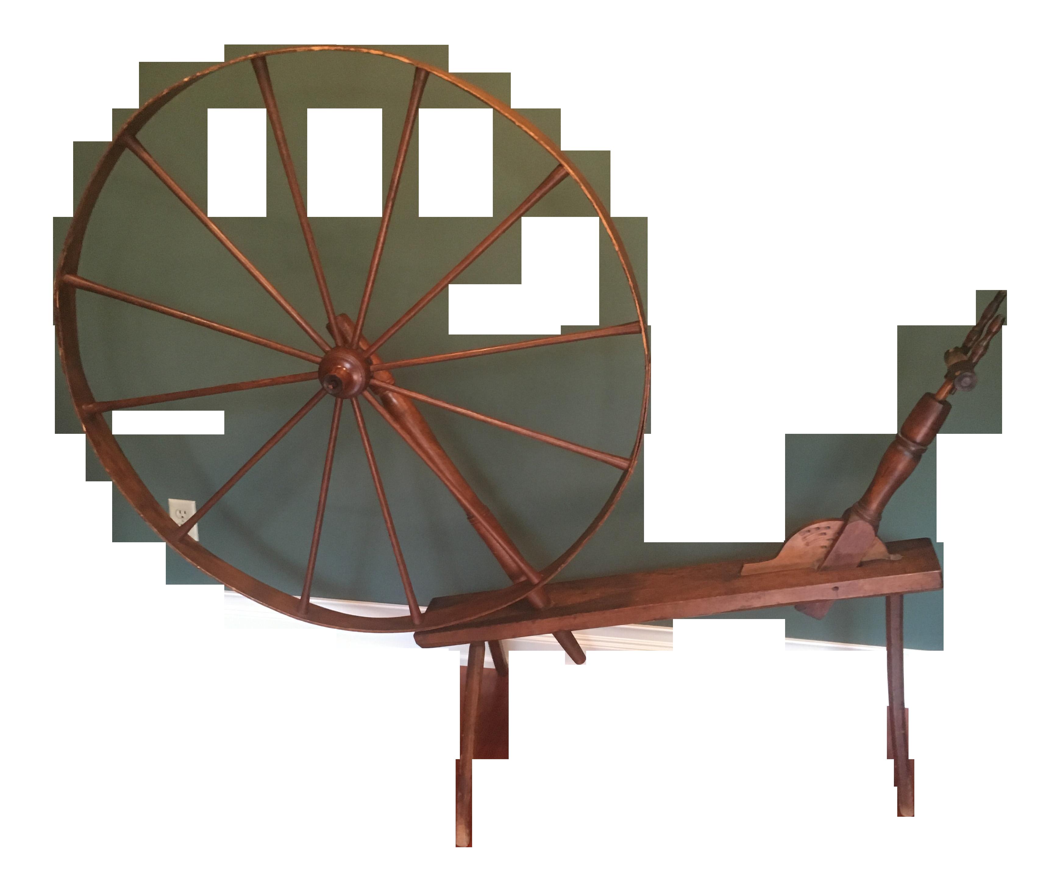 Antique Rustic Spinning Wheel Chairish