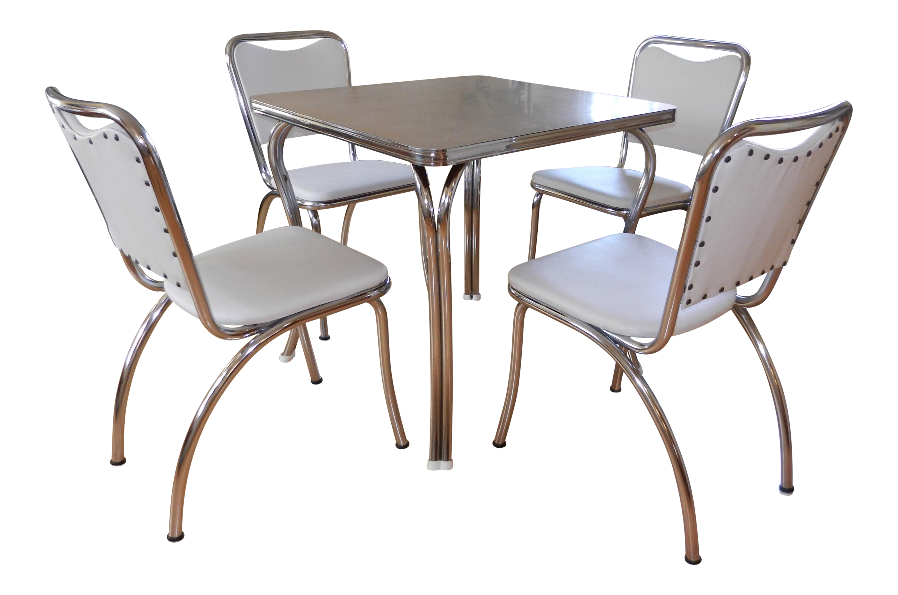 Image of: 1950s Chrome Formica Dinette Set Chairish