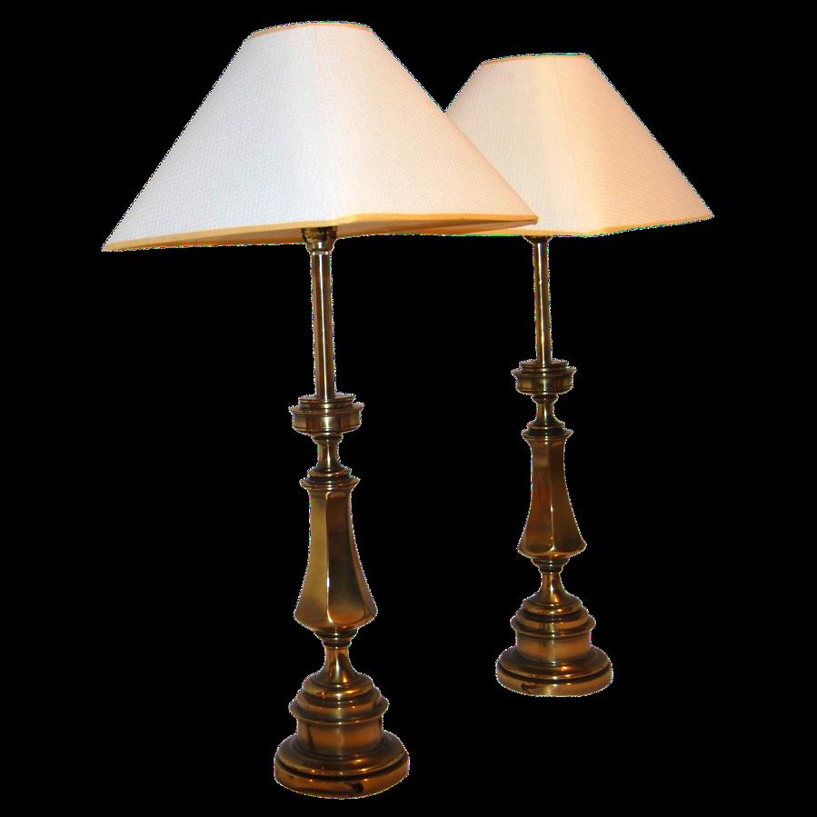 Mid century modern brass stiffel lamps a pair chairish