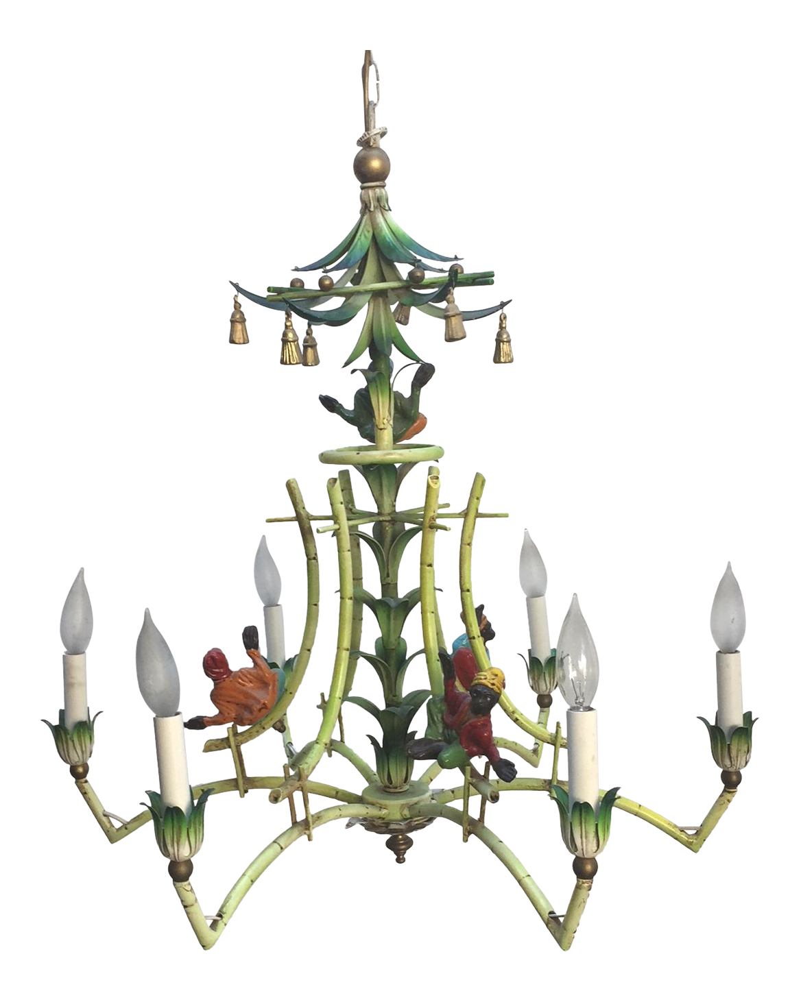Victorian monkey and bamboo chandelier chairish aloadofball
