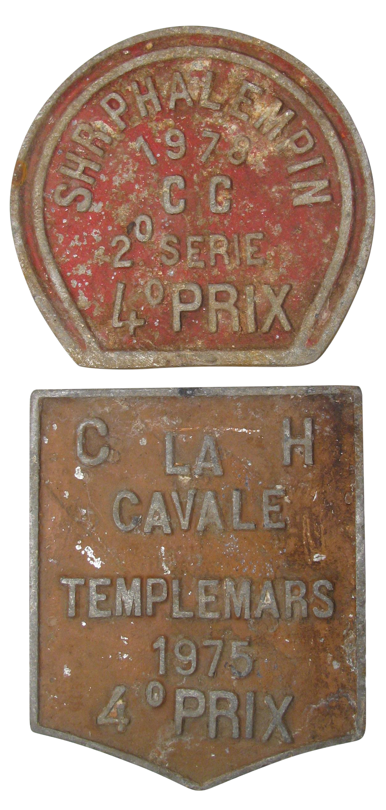 Vintage French Equestrian Trophy Plaques Pair Chairish