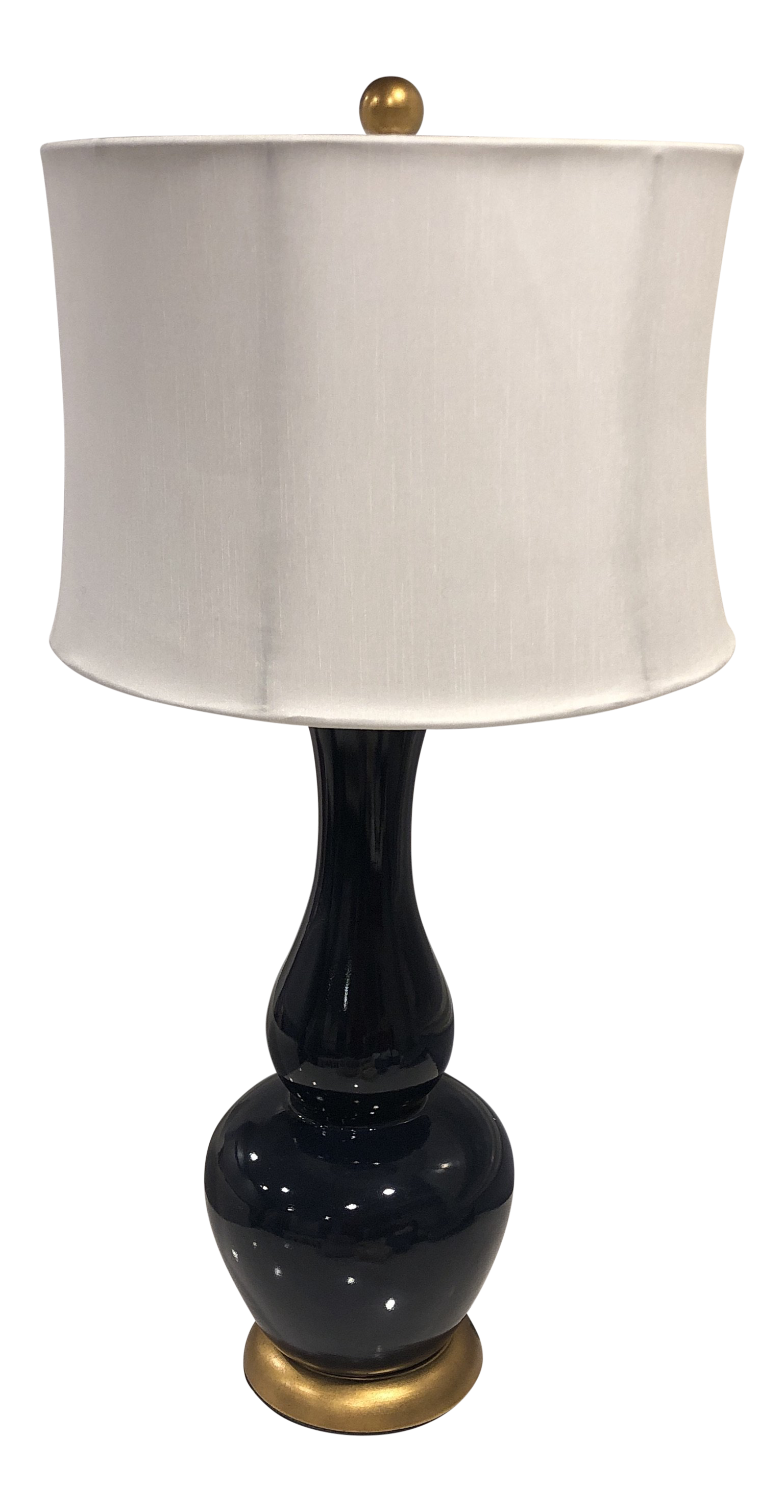Navy Blue Ceramic Table Lamp Chairish