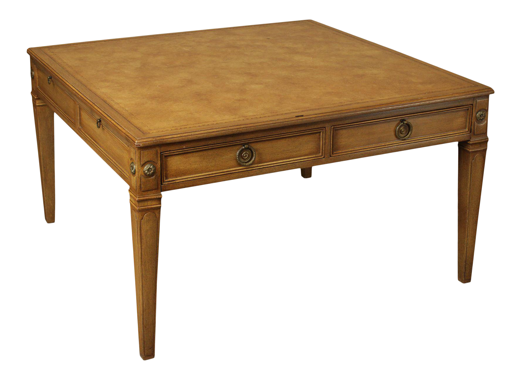 - Baker Vintage Regency Style Square Leather Top Coffee Table Chairish