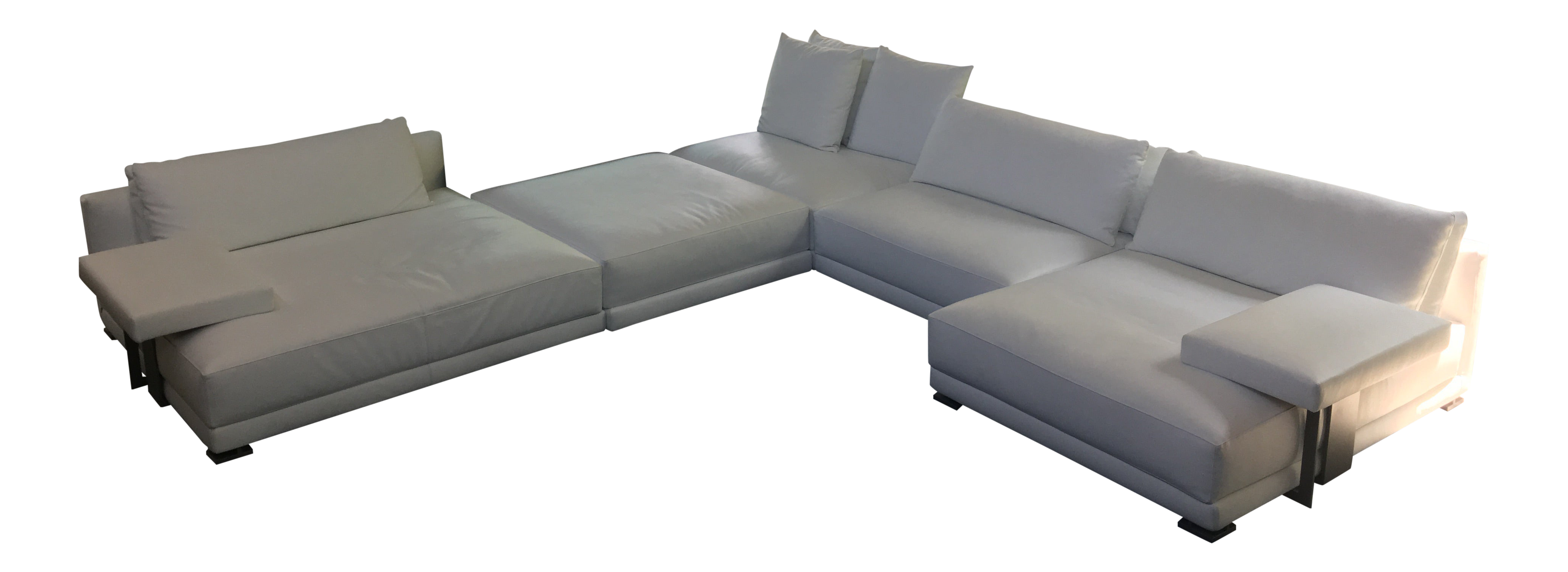 Magnificent Poliform Bristol Leather Couch With Table Short Links Chair Design For Home Short Linksinfo