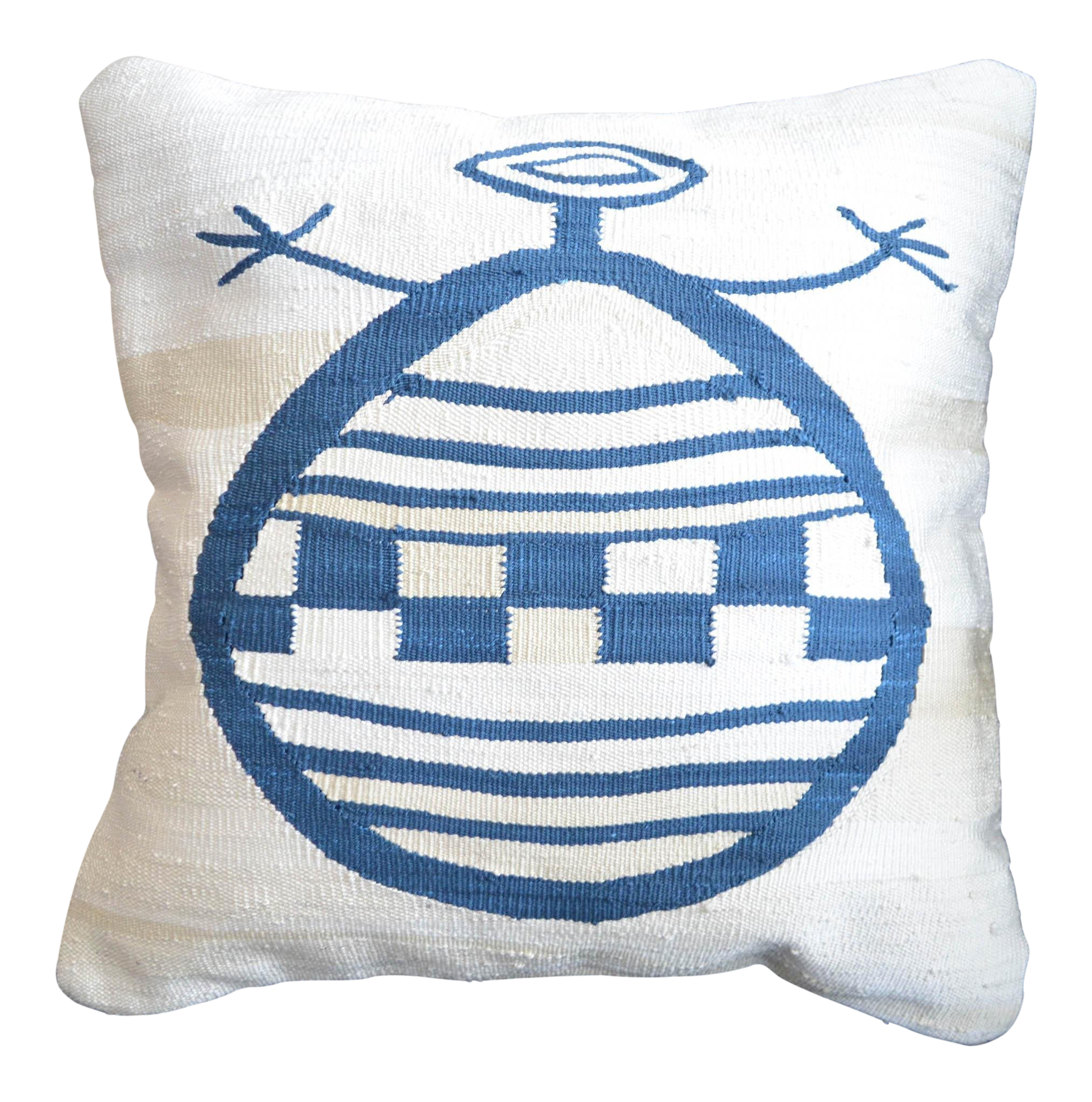 Hand woven Linen cotton pillow cover made to order.