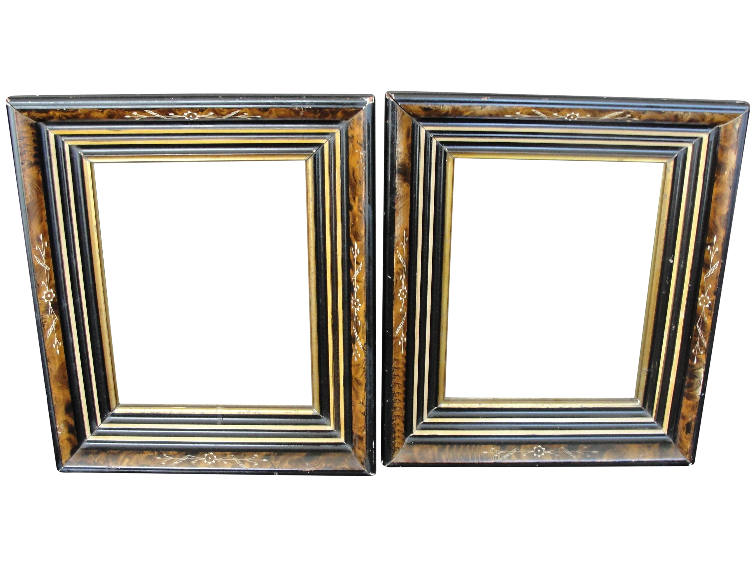 Aesthetic Eastlake Shadowbox Frames - A Pair | Chairish