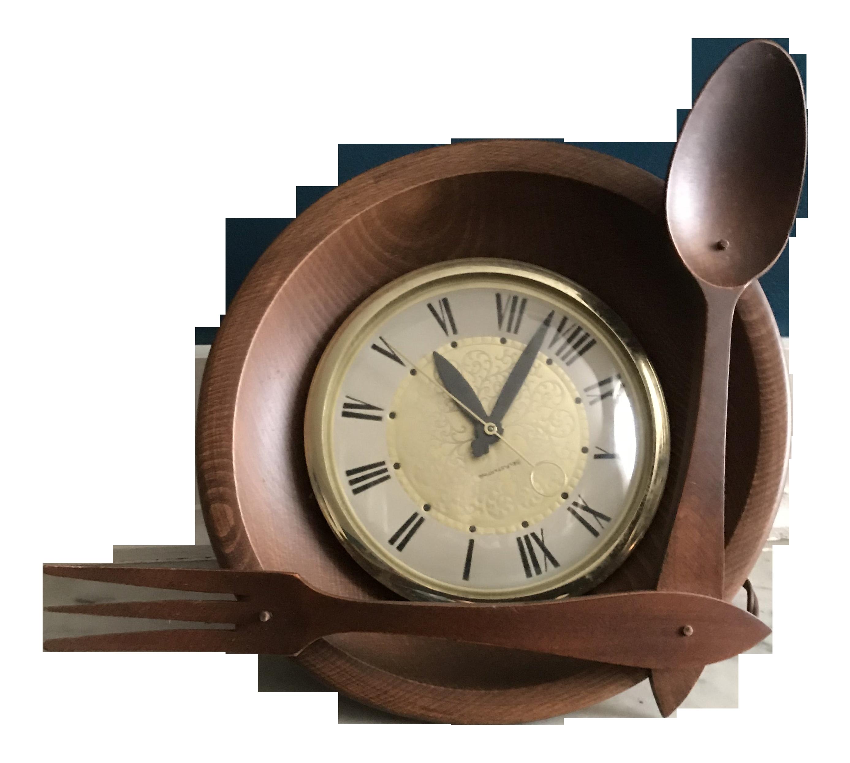 Mid-Century Maple Kitchen Wall Clock