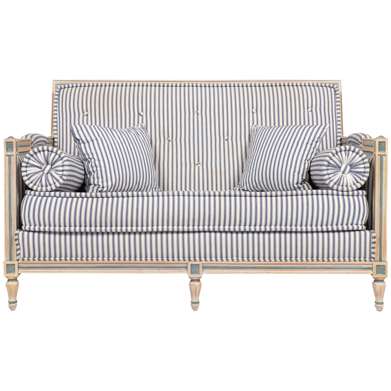 Incredible Antique French Louis Xvi Settee Decaso